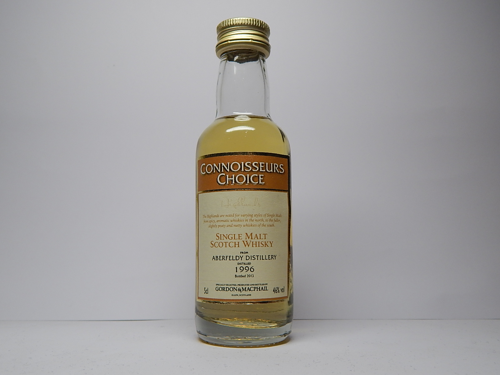 "HSMSW 17yo 1996-2013 ""Connoisseurs Choice"" 5cl 46%vol"