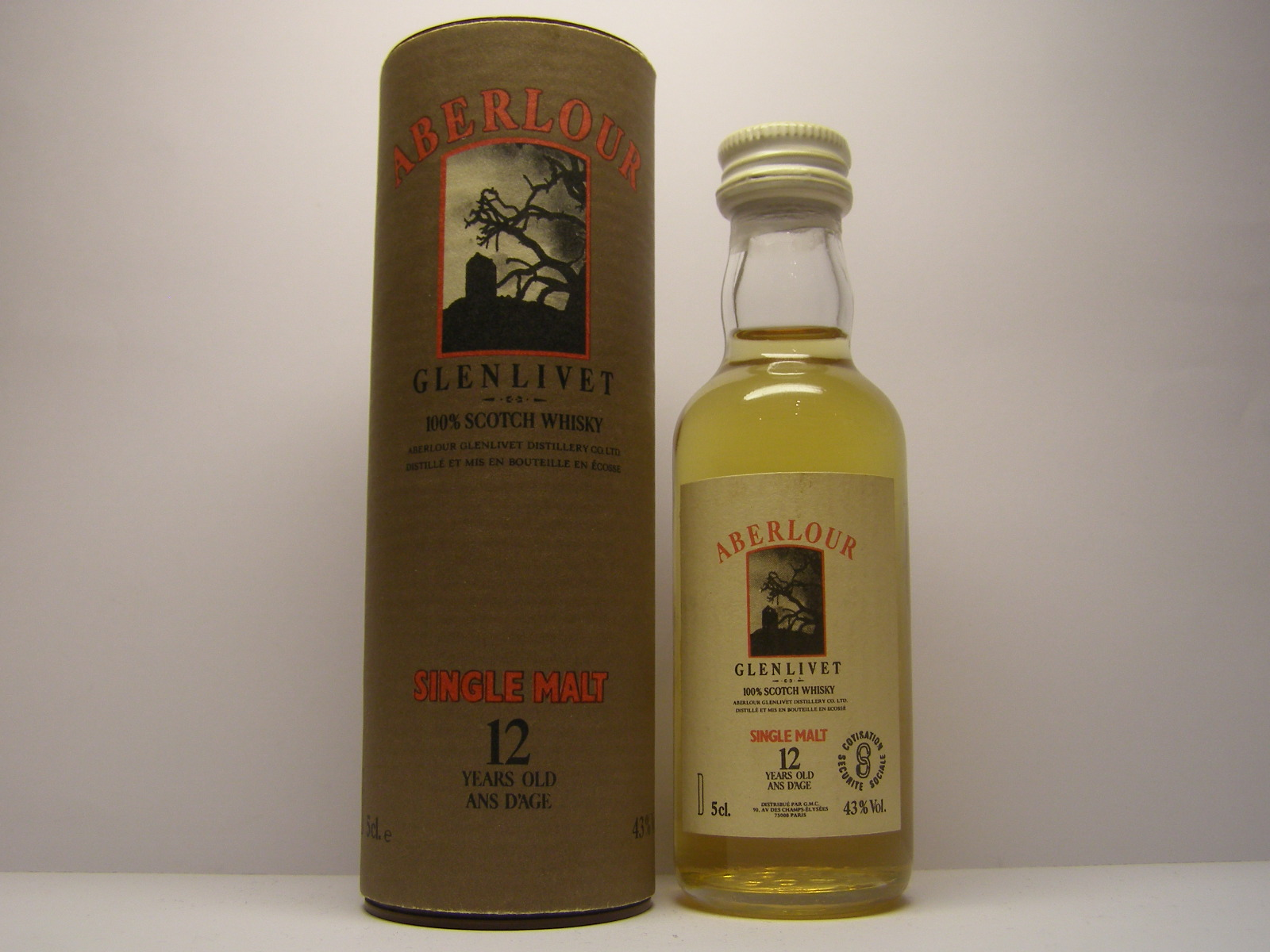 "SW SM 12ans d´Age 5cl.e 43%Vol. ""France"""