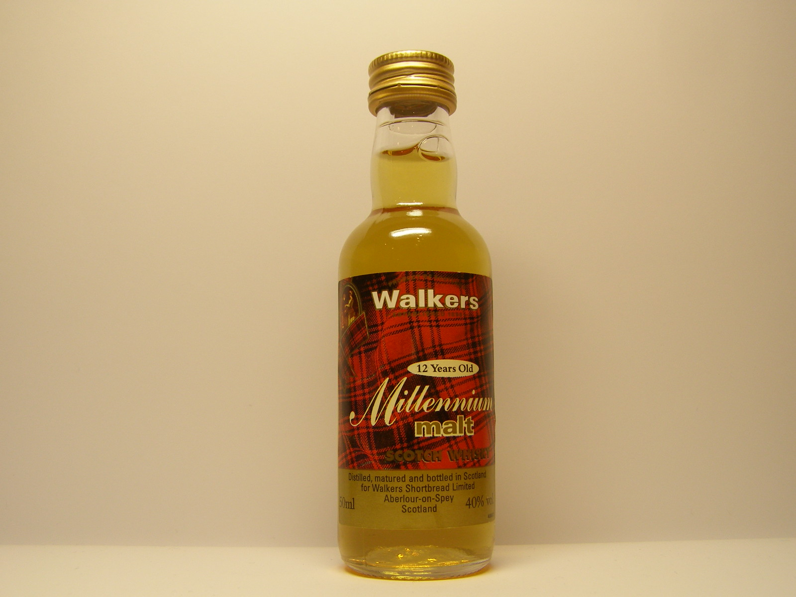 WALKERS Millennium MSW 12yo 50ml 40%vol.