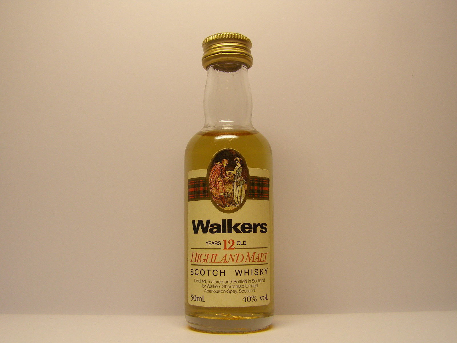 WALKERS HMSW 12yo 50ml. 40%vol.