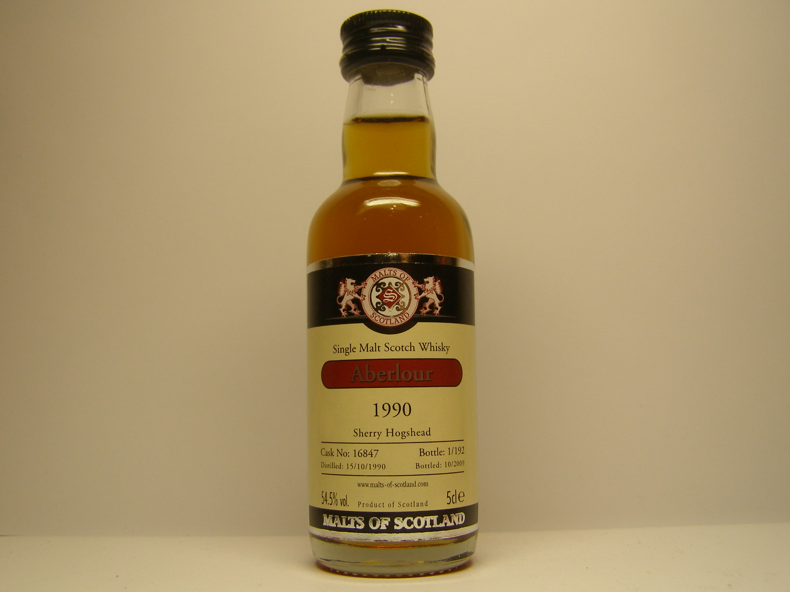 "SMSW 1990-2010 ""Malts of Scotland"" 5cle 54,5%vol."