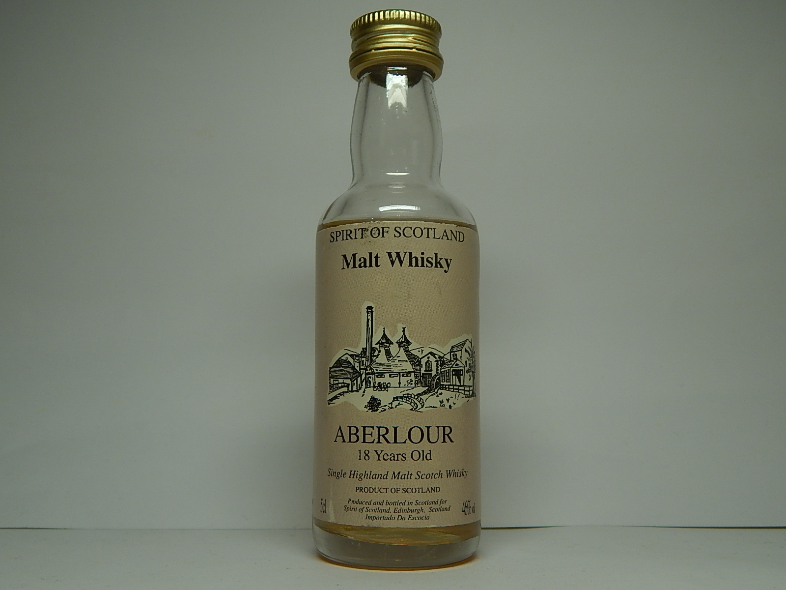 "SHMSW 18yo ""Spirit of Scotland"" 5cl 46%vol"