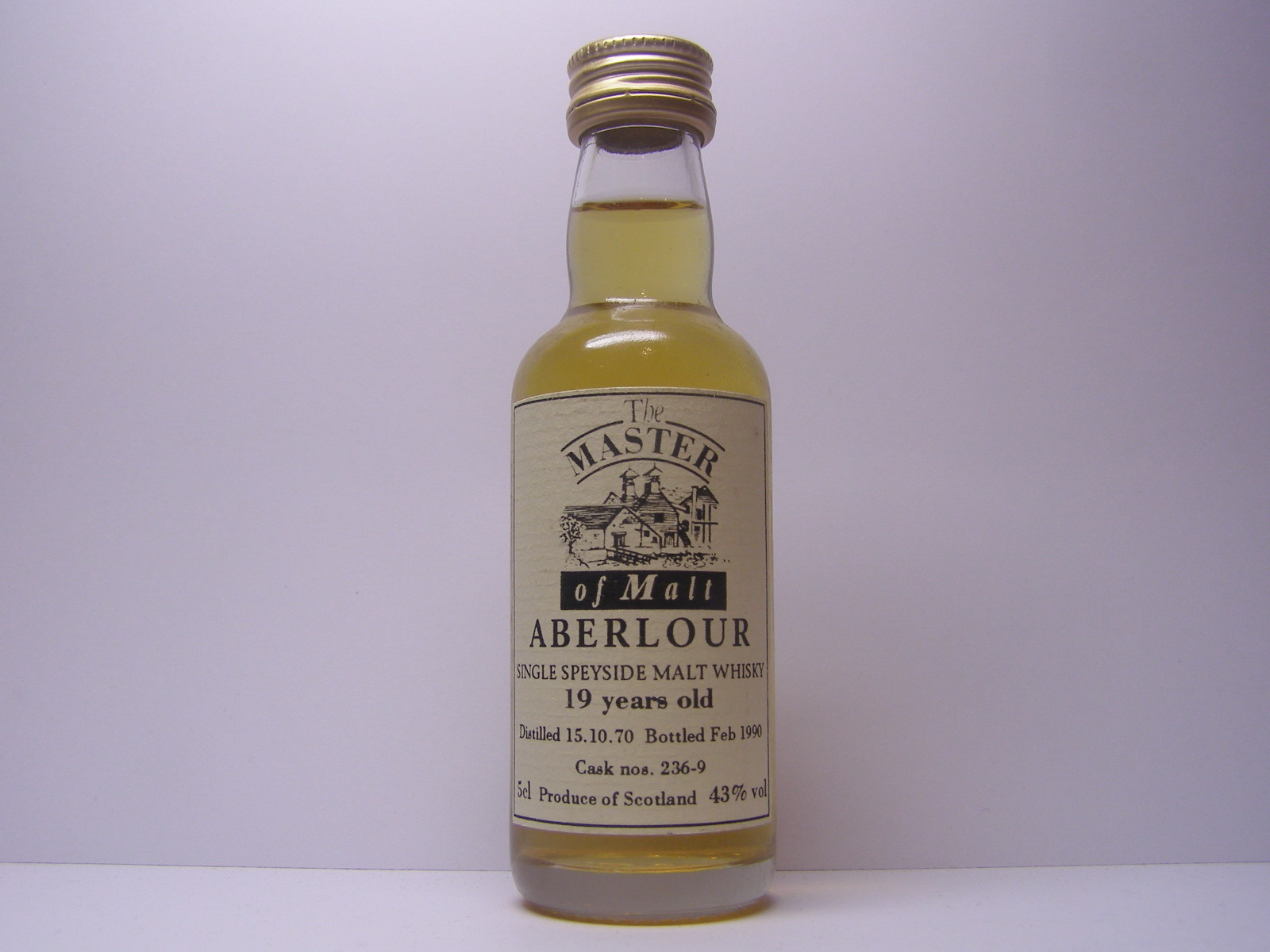 "SSMW 19yo 1970-1990 ""Master of Malt"" 5cl 43%vol"