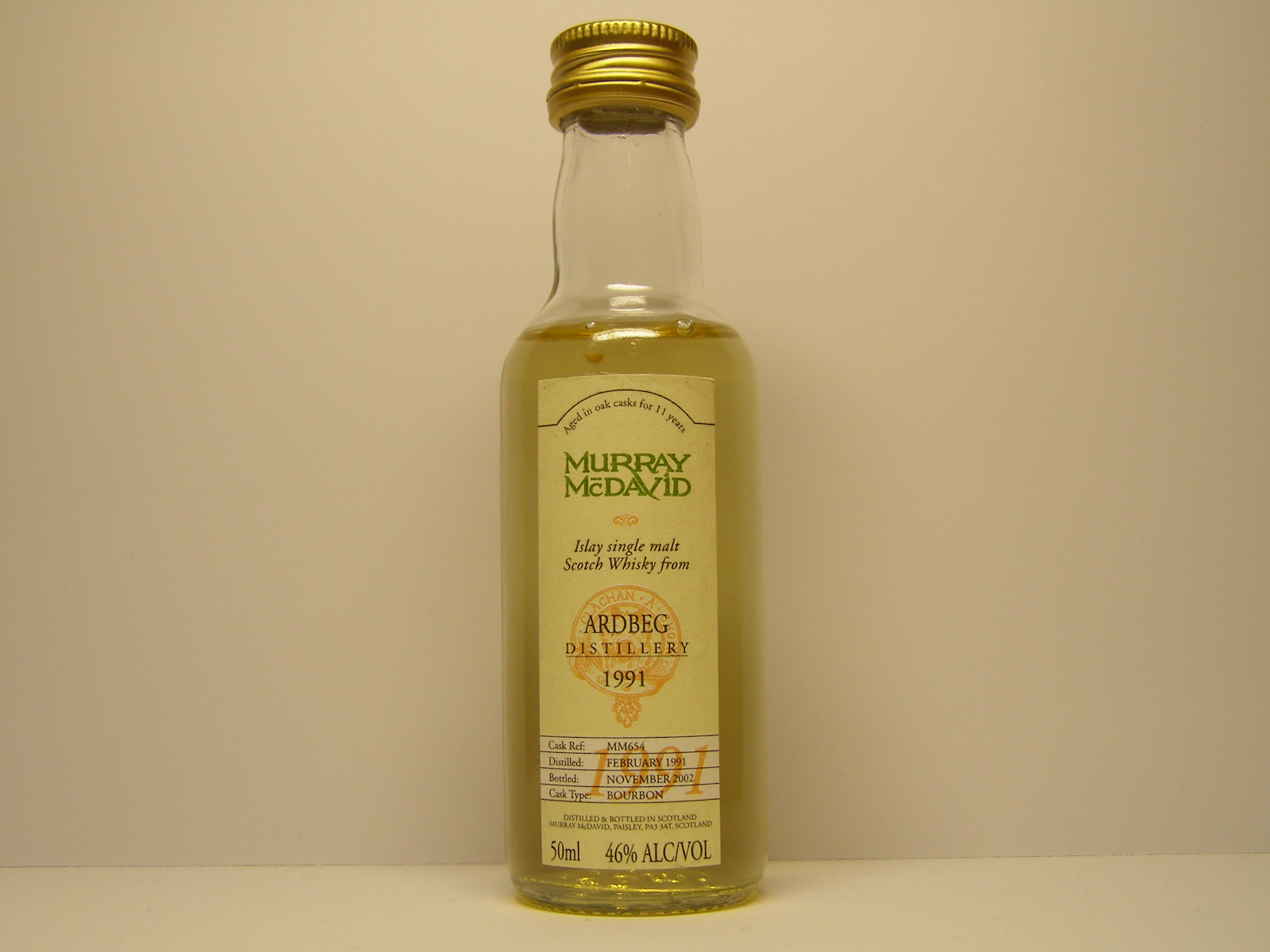 "ISMSW 11yo 1991-2002 ""Murray McDavid"" 50ml 46%ALC/VOL"