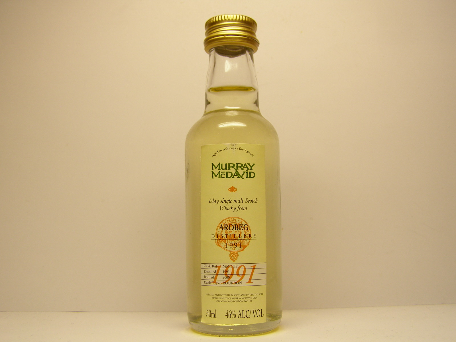 "ISMSW 9yo 1991-2000 ""Murray McDavid"" 50ml 46%ALC/VOL"