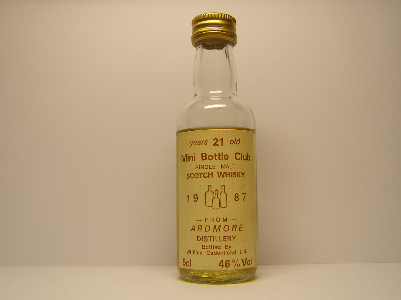 "SMSW 21yo 1987 Mini Bottle Club ""Cadenhead"" 5cl 46%Vol"