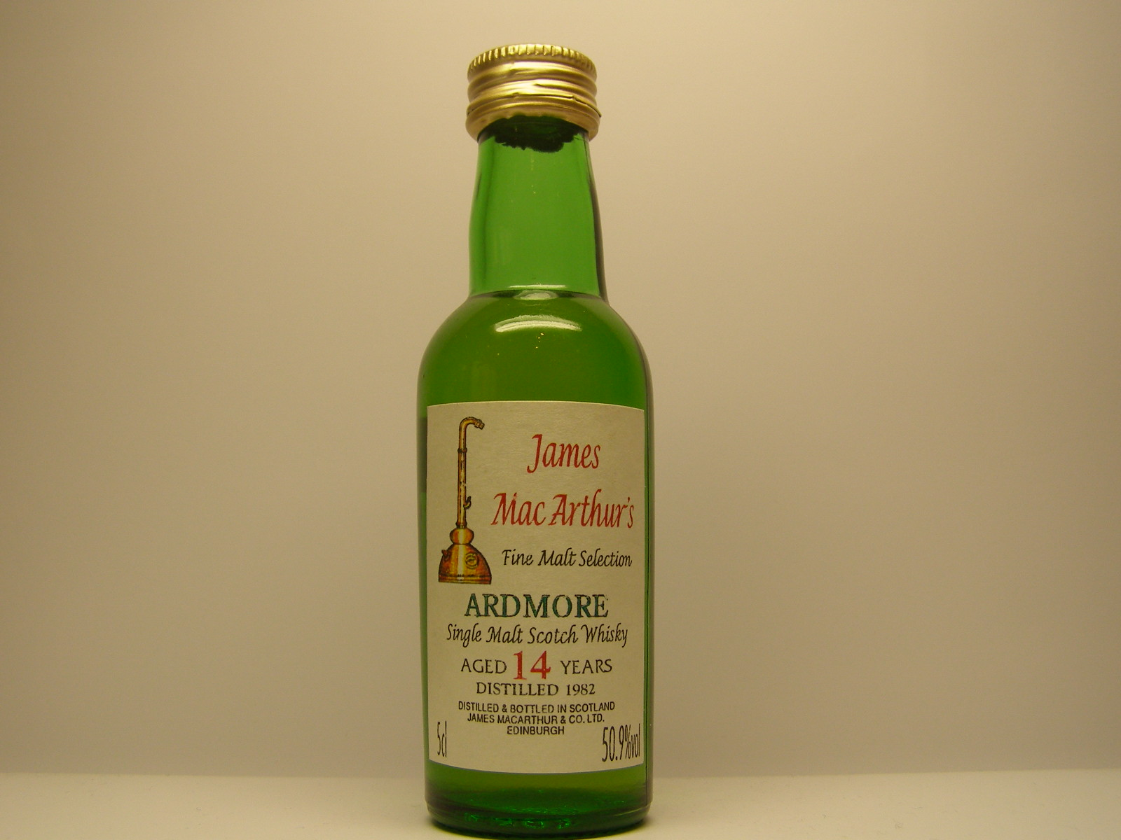 "SMSW 14yo 1982 ""James MacArthurs"" 5cl 50,9%vol"