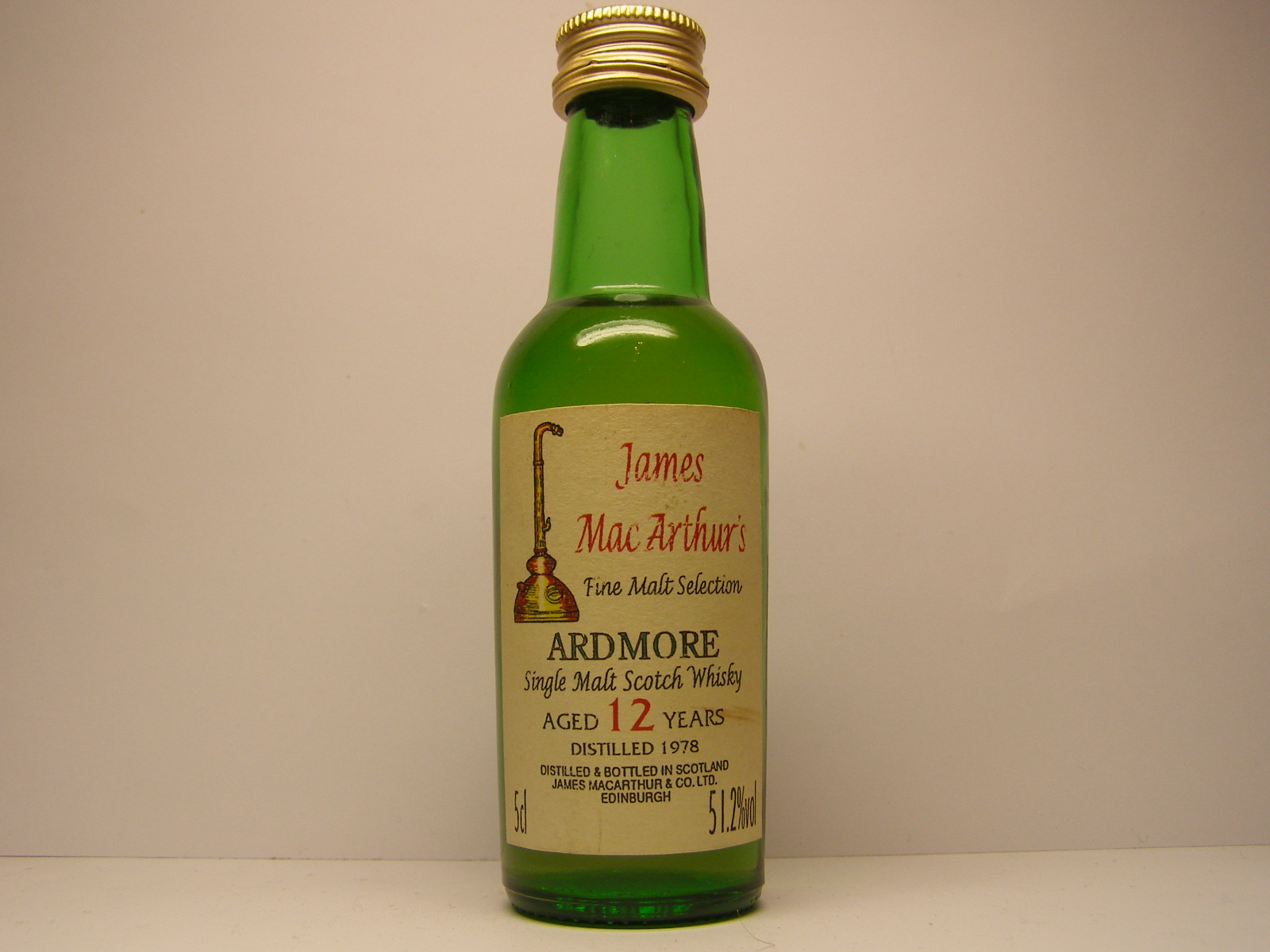 "SMSW 12yo 1978 ""James MacArthur´s"" 5cl 51,2%vol"