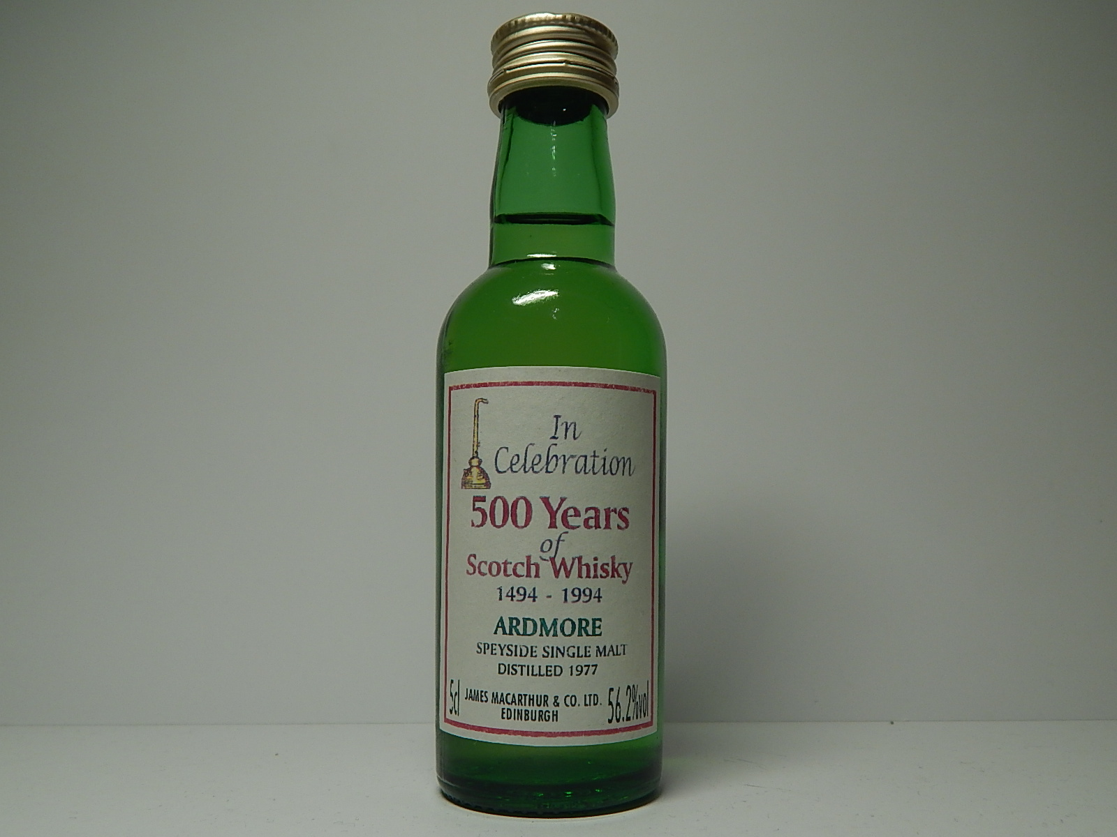 "In Celebration SSMSW 1977 ""James MacArthur´s"" 5cl 56,2%vol"