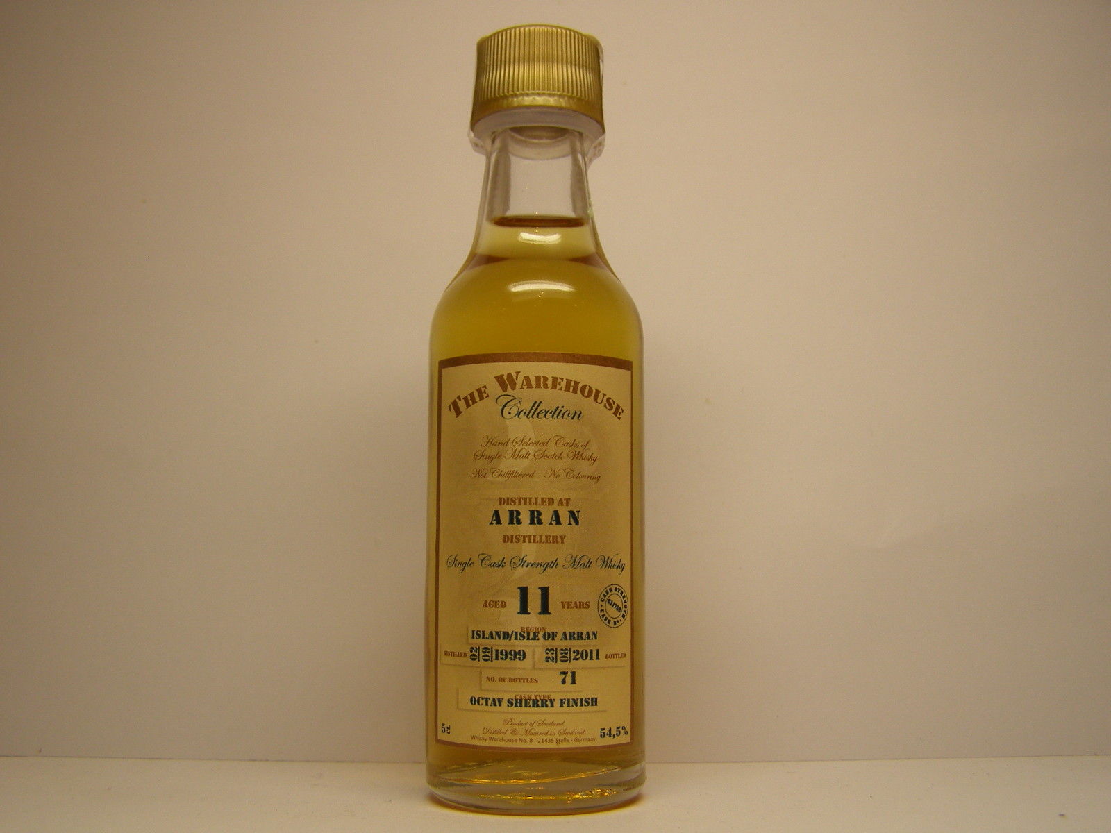 "SCSMW 11yo 1999-2011 ""The Warehouse Collection"" 5cl 54,5%"
