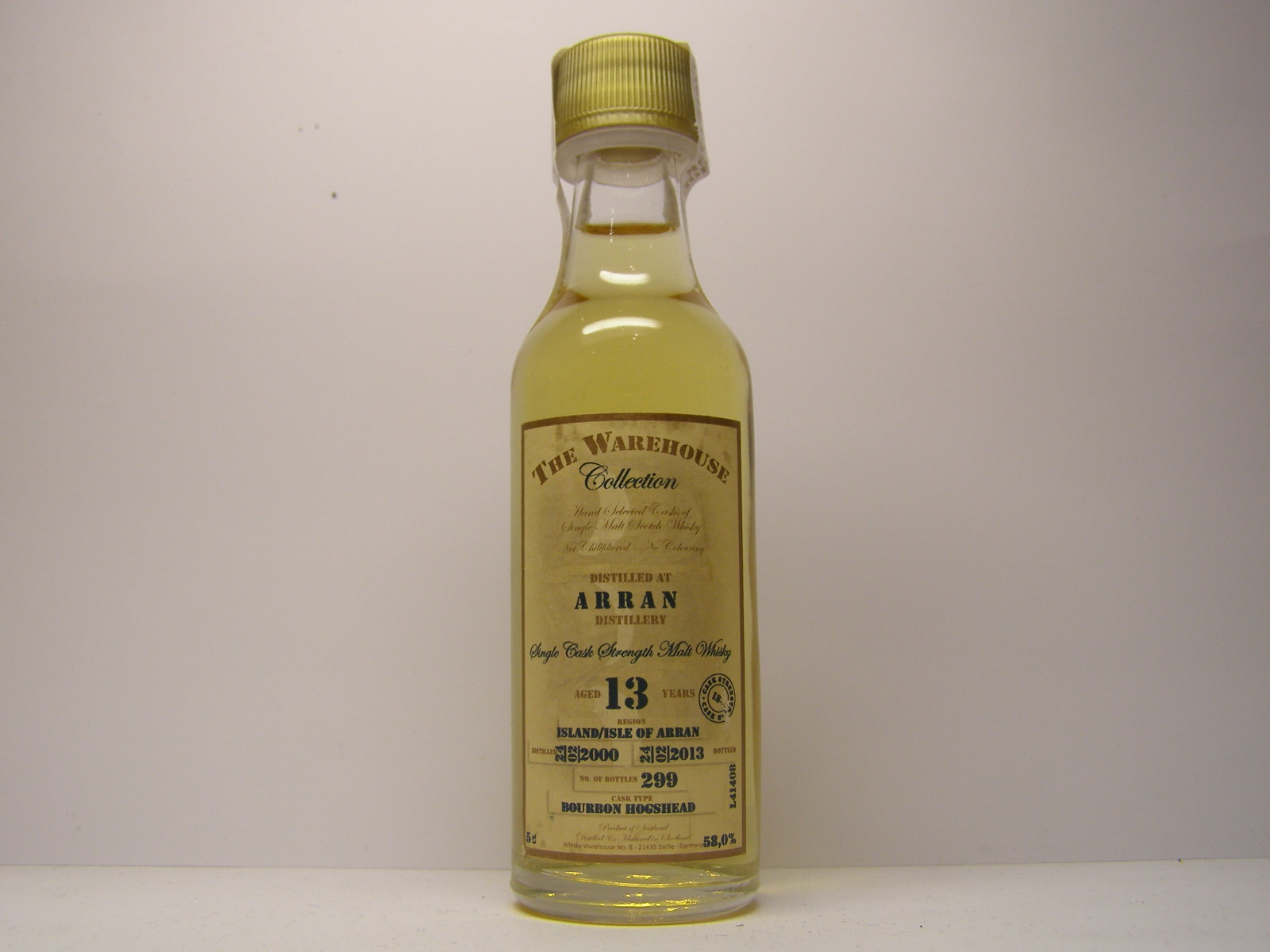 "SCSMW 13yo 2000-2013 ""The Warehouse Collection"" 5cl 58,0%"