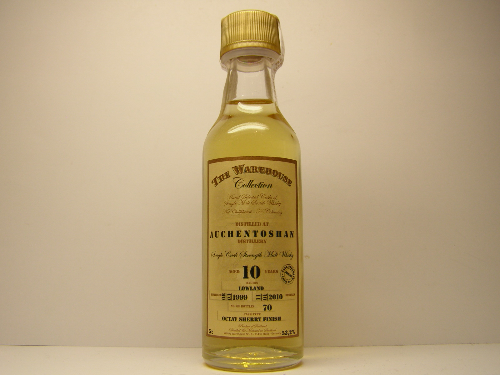 "SCSMW 10yo 1999-2010 ""The Warehouse Collection"" 5cl 53,2%"