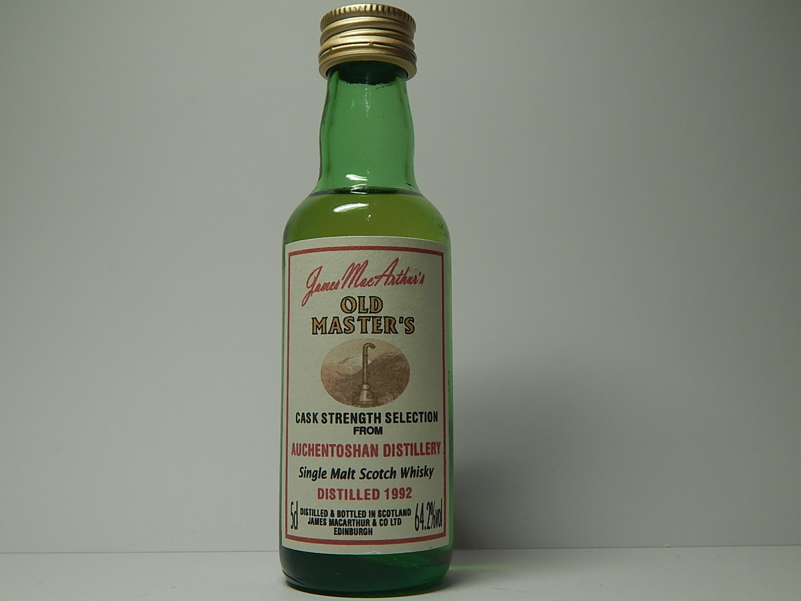 "OLD MASTER´S SMSW 1992 ""James MacArthur´s"" 5cl 64,2%vol"