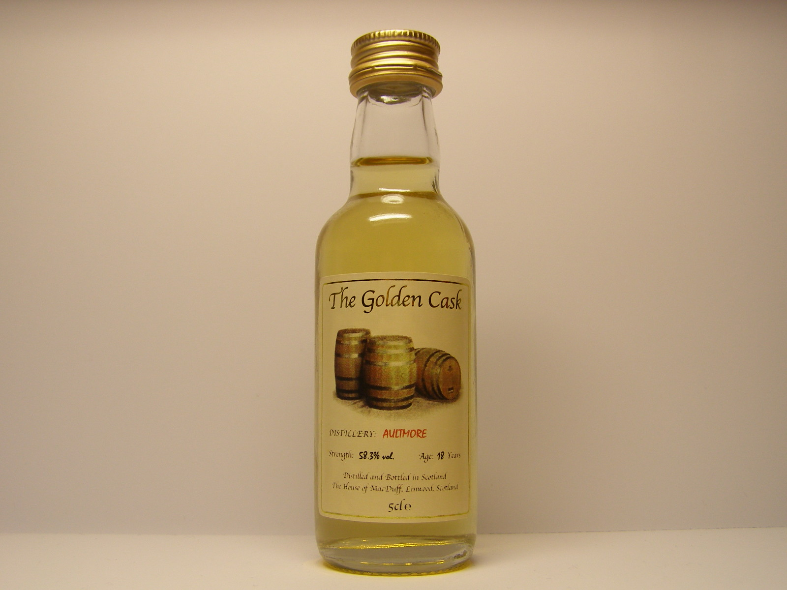 "18yo ""Golden Cask"" 5cle 58,3%vol."