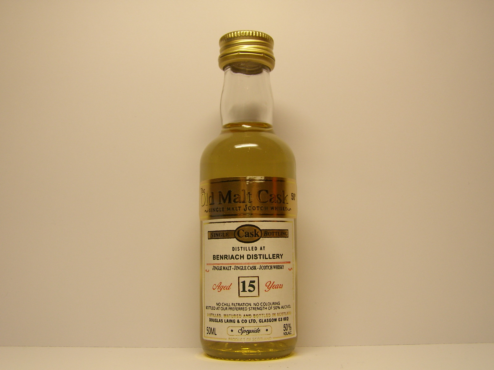"SSMSW 15yo ""Old Malt Cask"" 50ML 50%VOL/ALC"