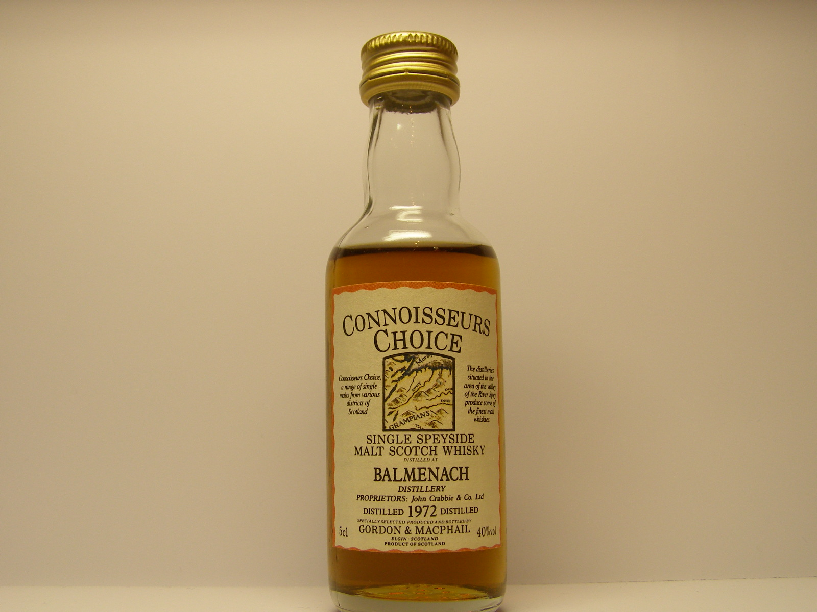 "SSMSW 1972 ""Connoisseurs Choice"" 5cl 40%vol"