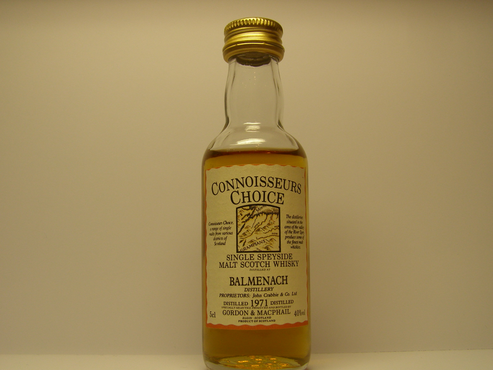 "SSMSW 1971 ""Connoisseurs Choice"" 5cl 40%vol"