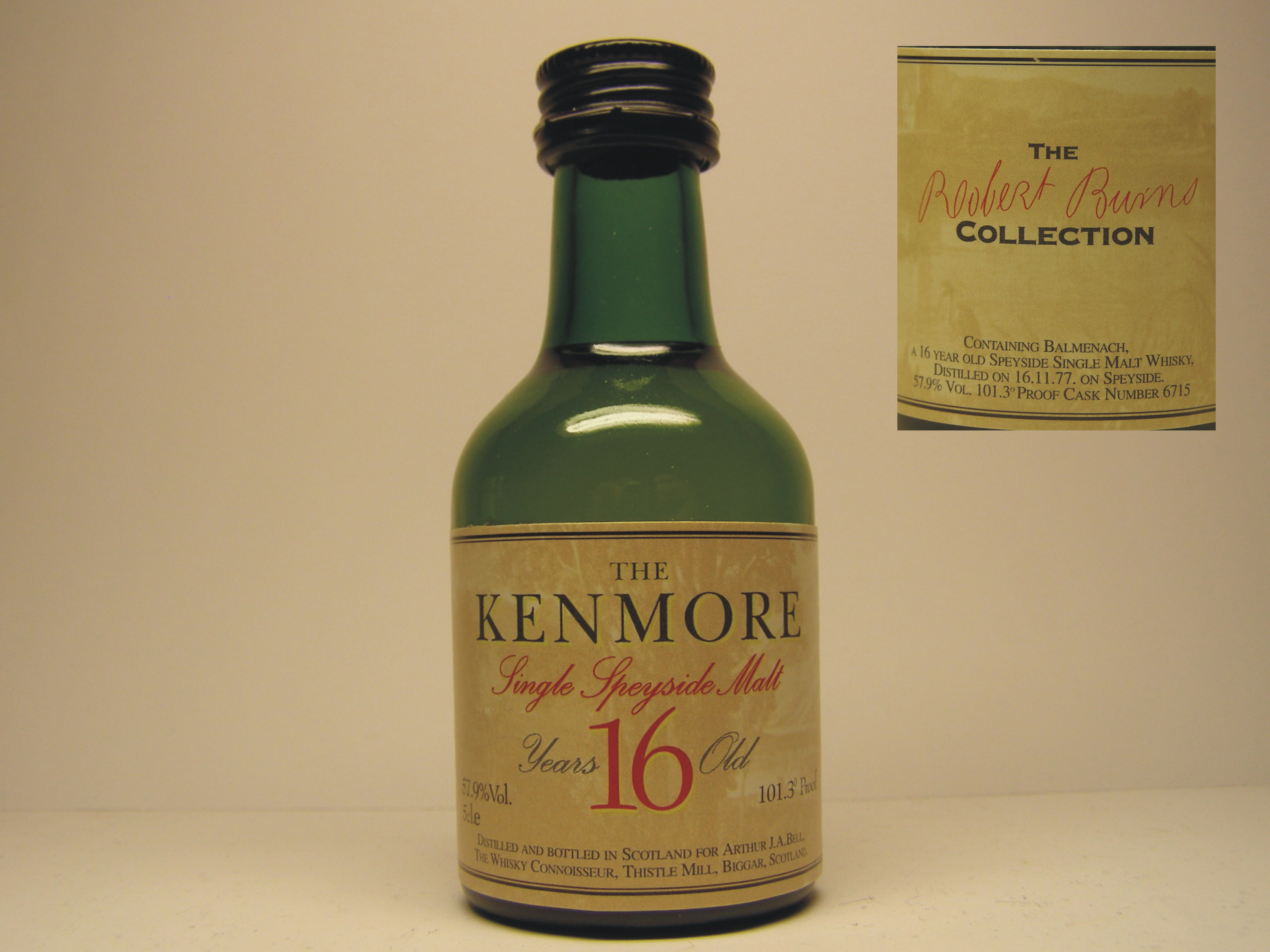 KENMORE SSMSW 16yo 1977 5cl.e 57,9%Vol. 101,3´Proof