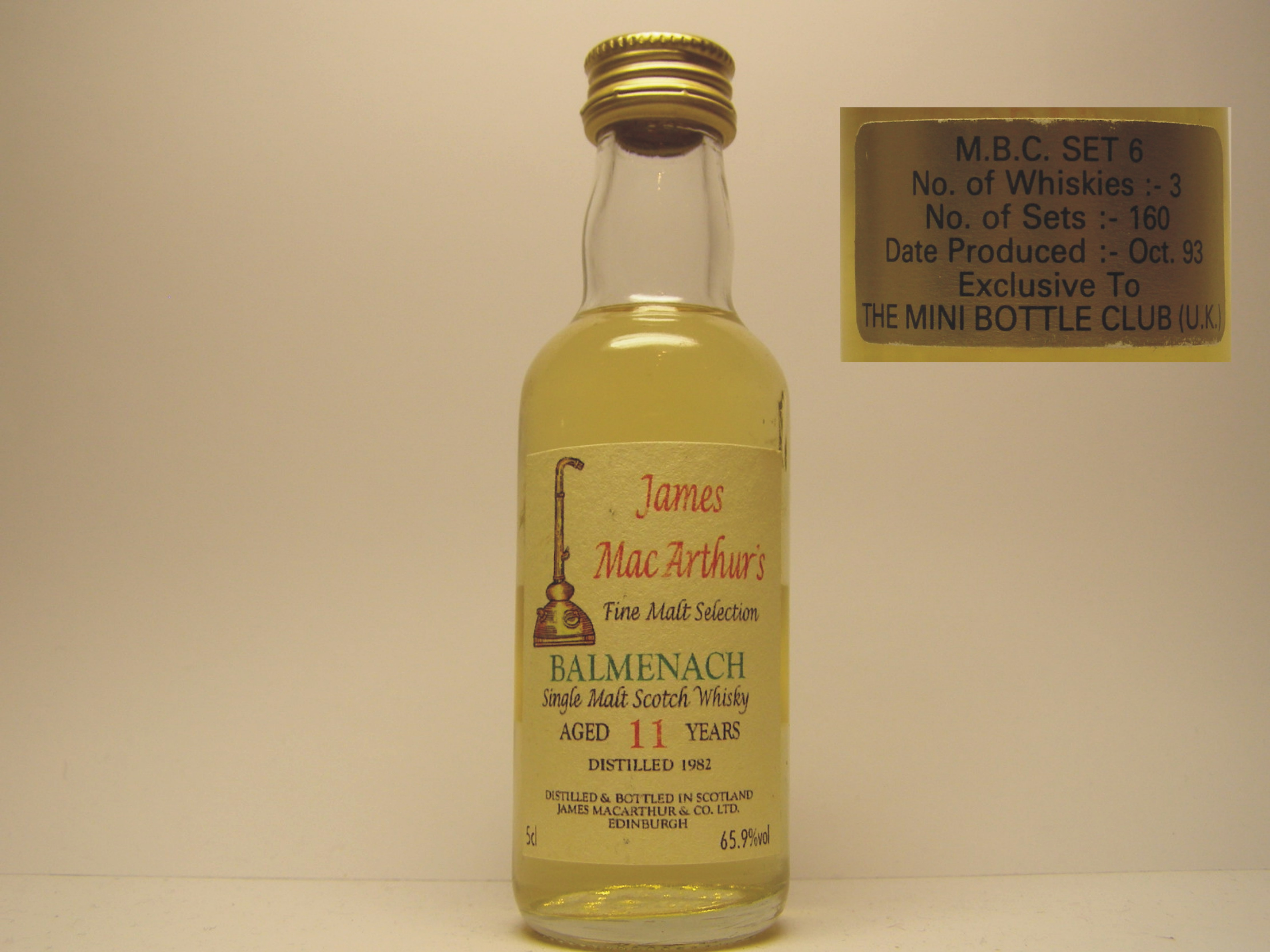 "SMSW 11yo 1982 ""James MacArthur´s"" 5cl 65,9%vol"