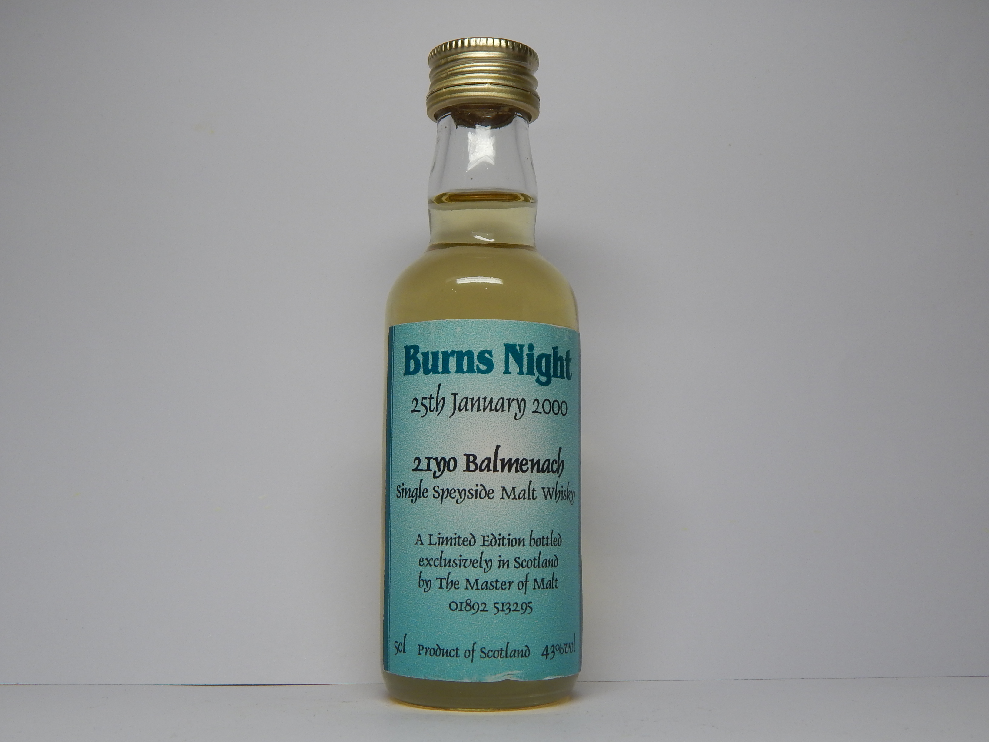 "BURNS NIGHT SSMW 21yo ""Master of Malt"" 5cl 43%vol"