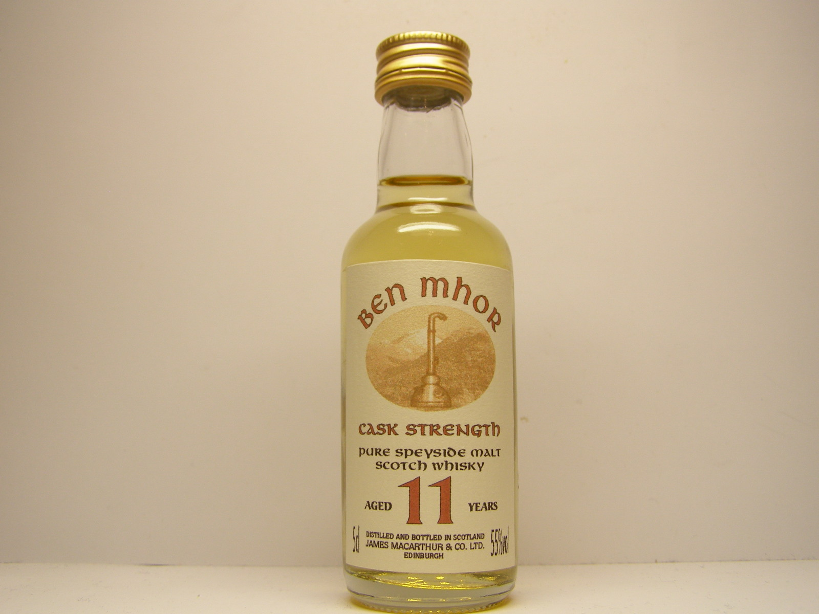 "BEN MHOR PSMSW 11yo ""James MacArthur´s"" 5cl 55%vol"