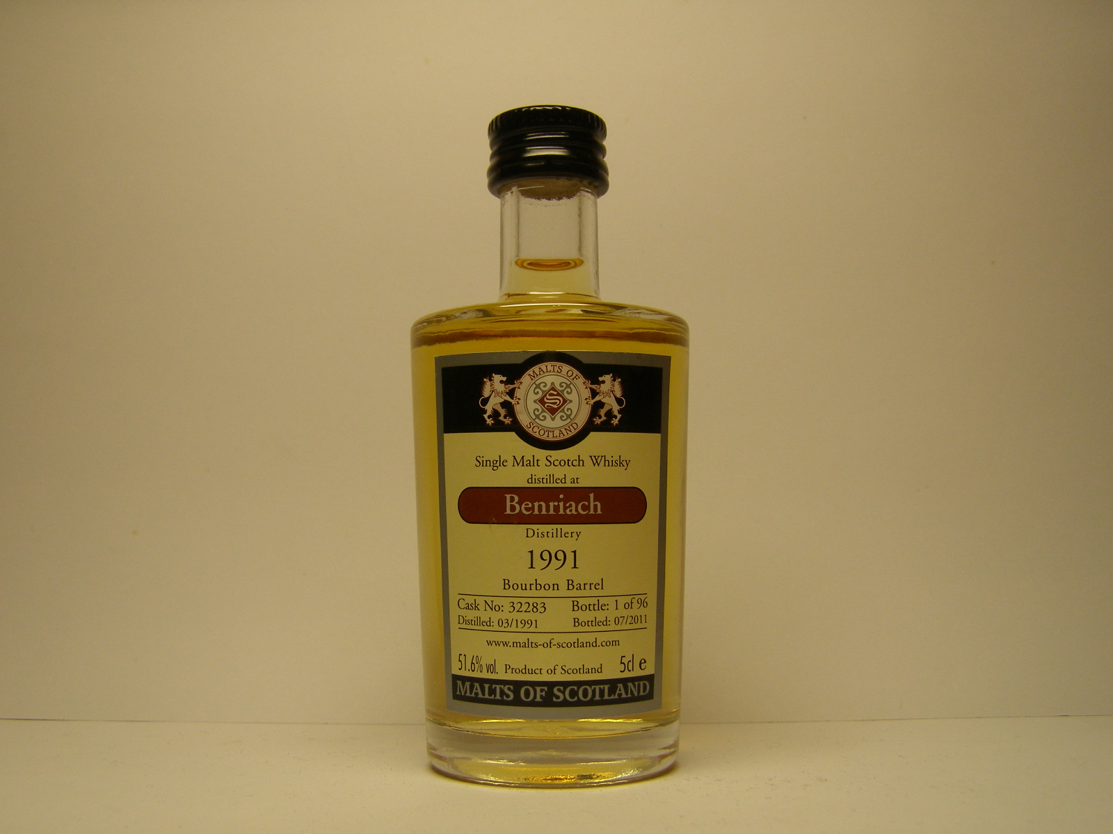 "SMSW 20yo 1991-2011 ""Malts of Scotland"" 5cle 51,6%vol."