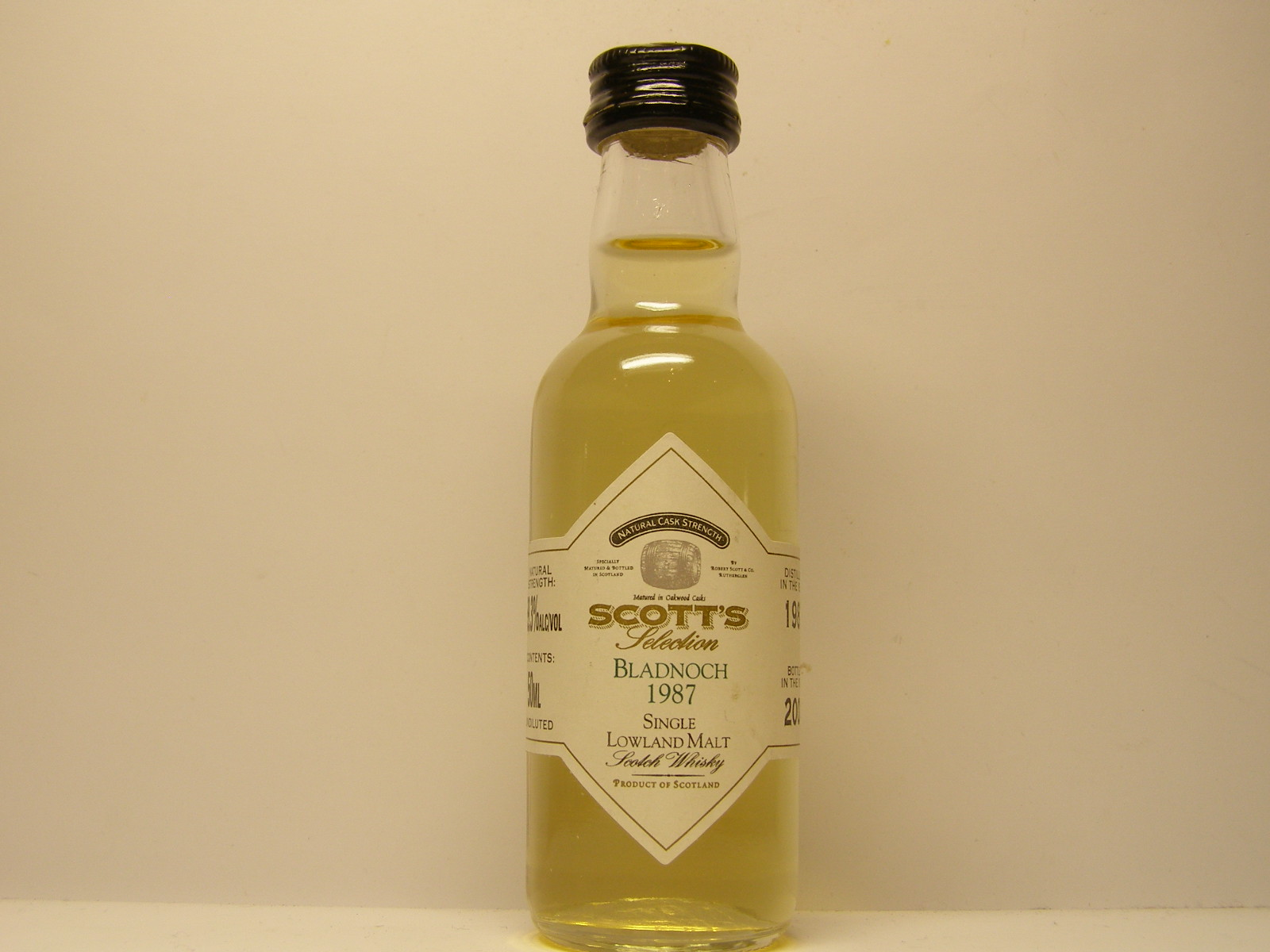 "SLMSW 13yo 1987-2000 ""Scott´s"" 50ML 59,3%ALC/VOL"