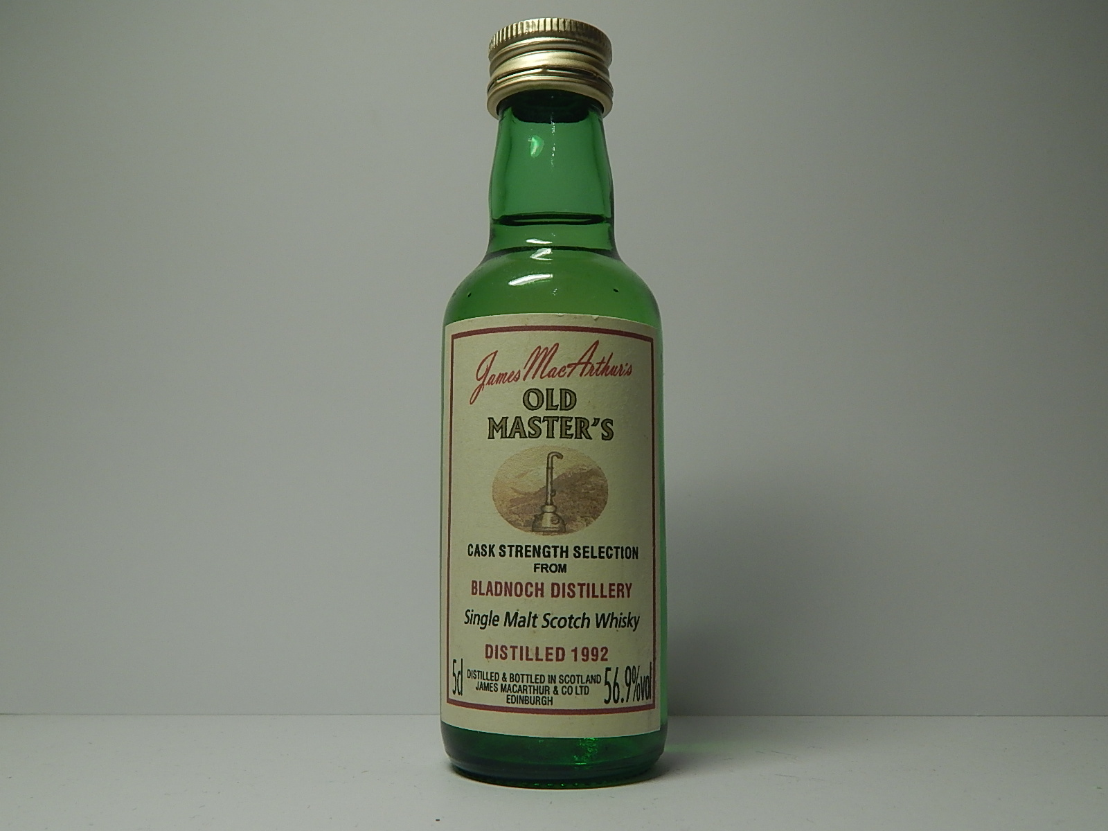 "OLD MASTER´S SMSW 1992 ""James MacArthur´s"" 5cl 56,9%vol"