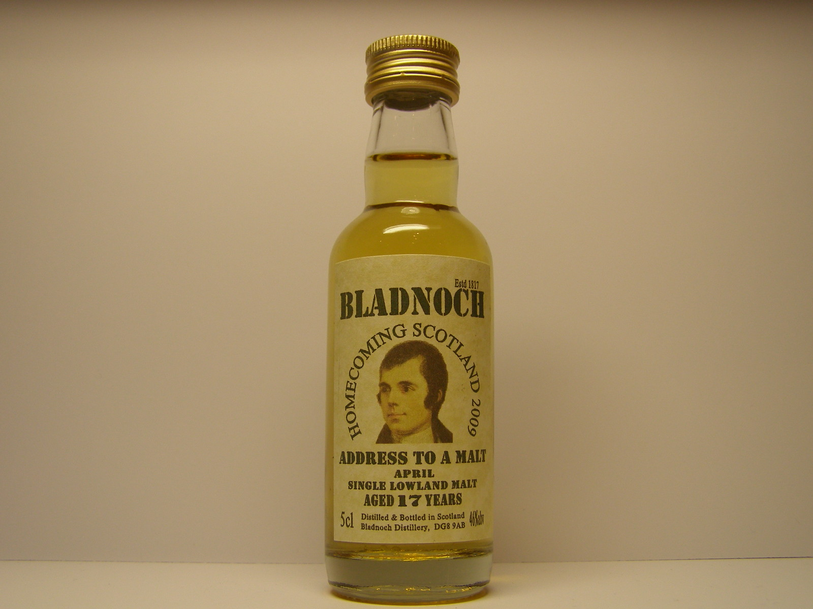 HOMECOMING SCOTLAND 2009 APRIL SLM 17yo 5cl 46%abv