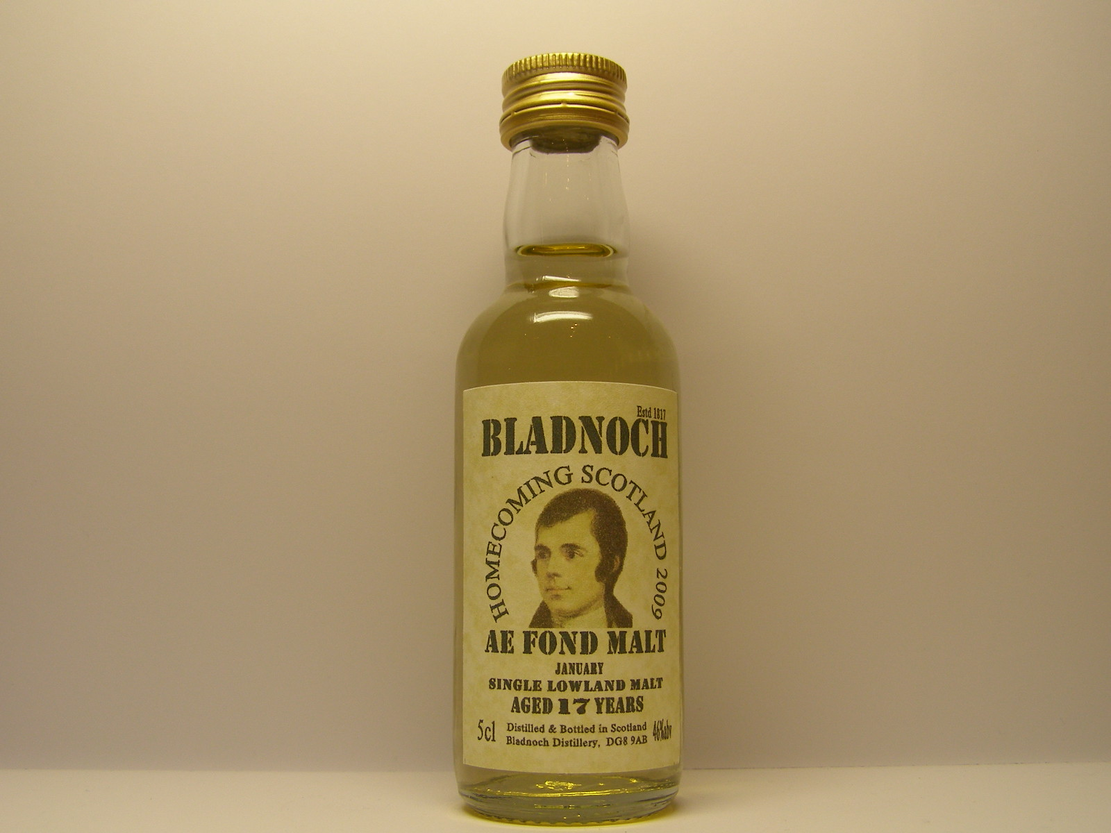 HOMECOMING SCOTLAND 2009 JANUARY SLM 17yo 5cl 46%abv