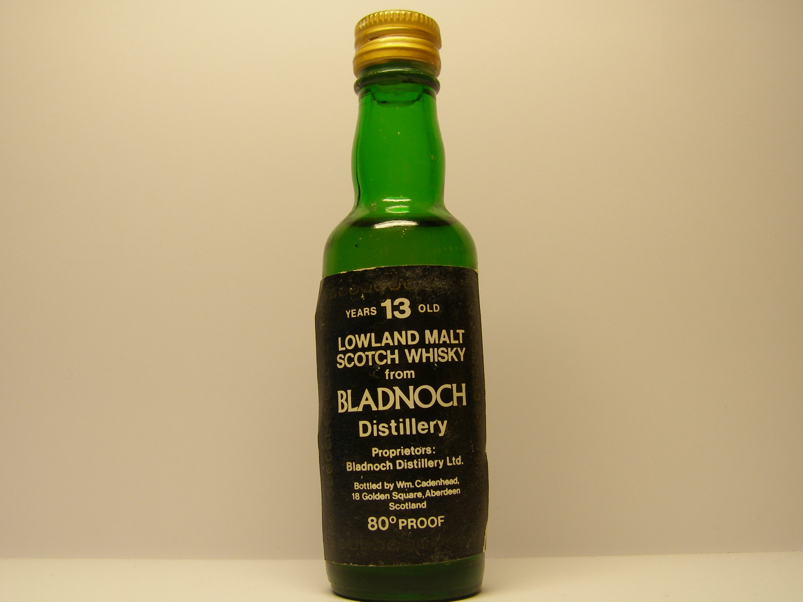 "LMSW 13yo ""Cadenhead´s"" 80´PROOF"