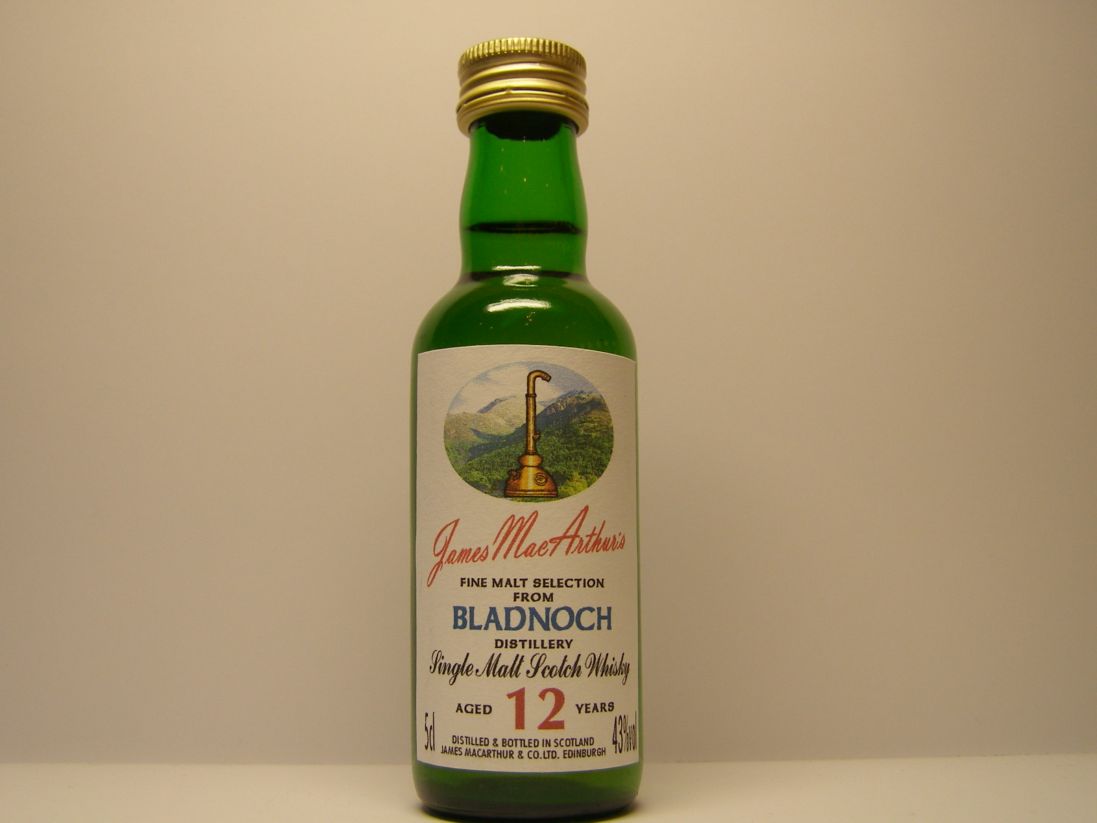 "SMSW 12yo ""James MacArthur´s"" 5cl 43%vol"