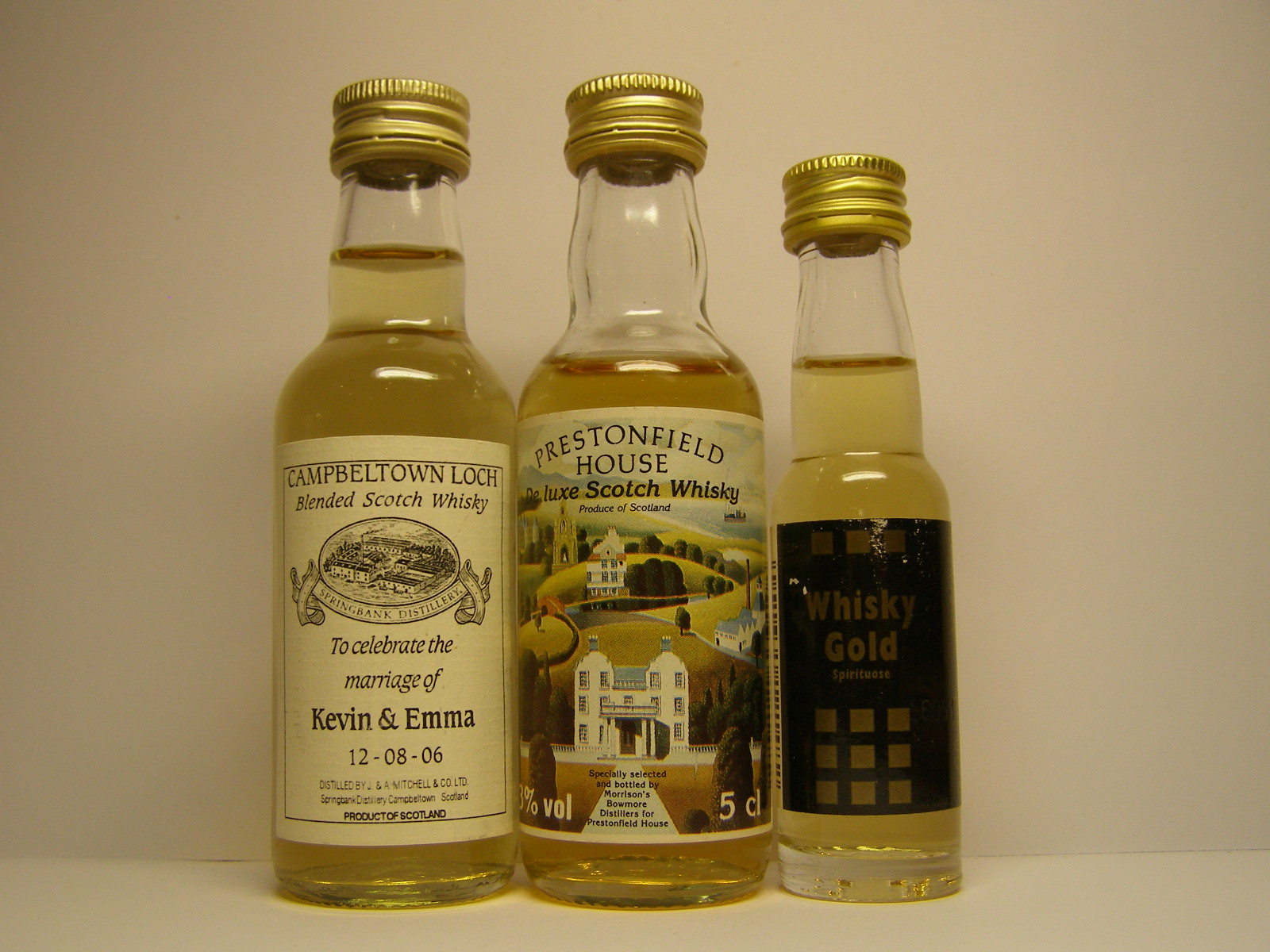 CAMBELTOWN LOCH , PRESTONFIELD HOUSE , WHISKY GOLD
