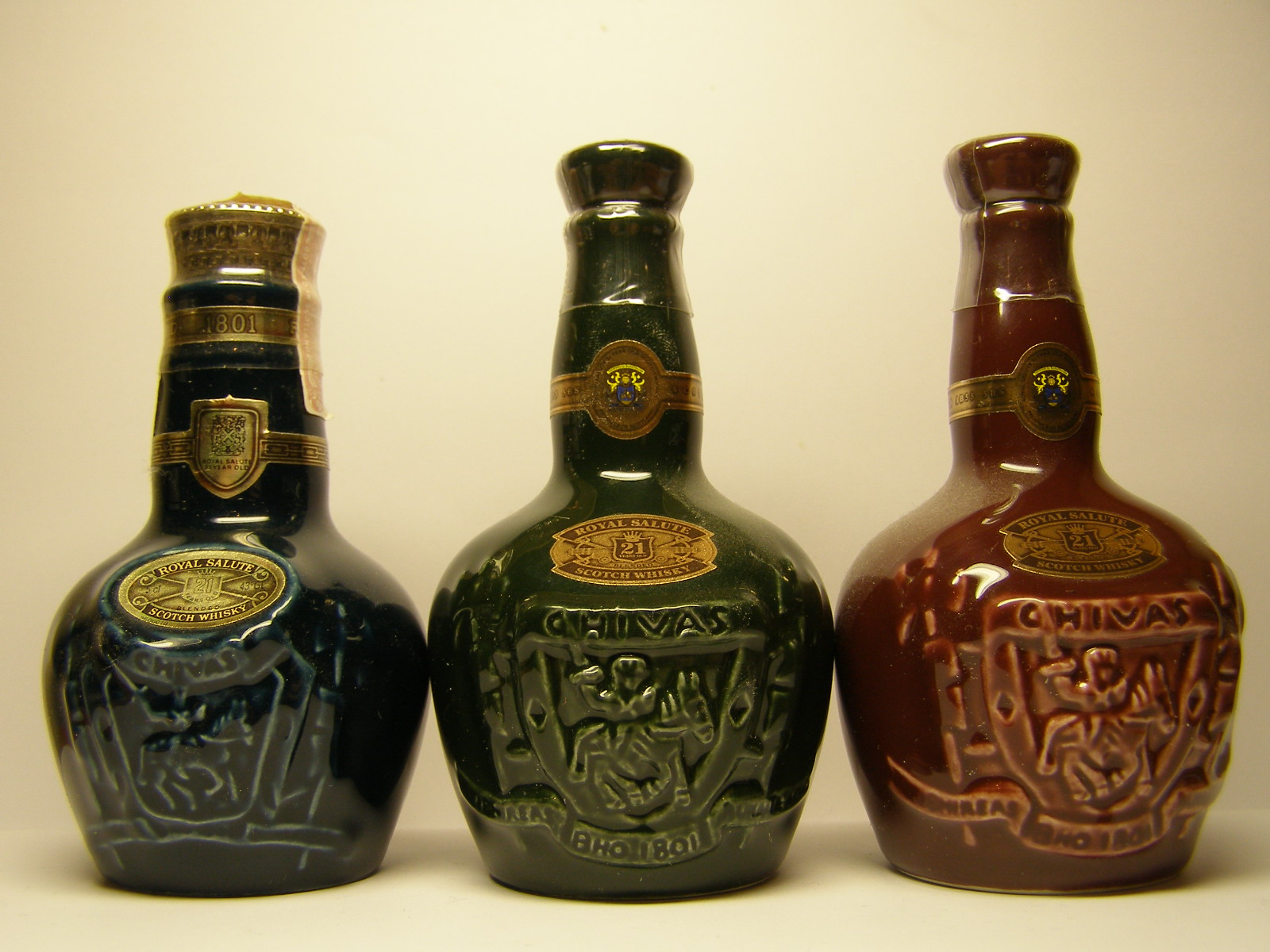 "ROYAL SALUTE Blue - Green - Red ""Ceramic"""