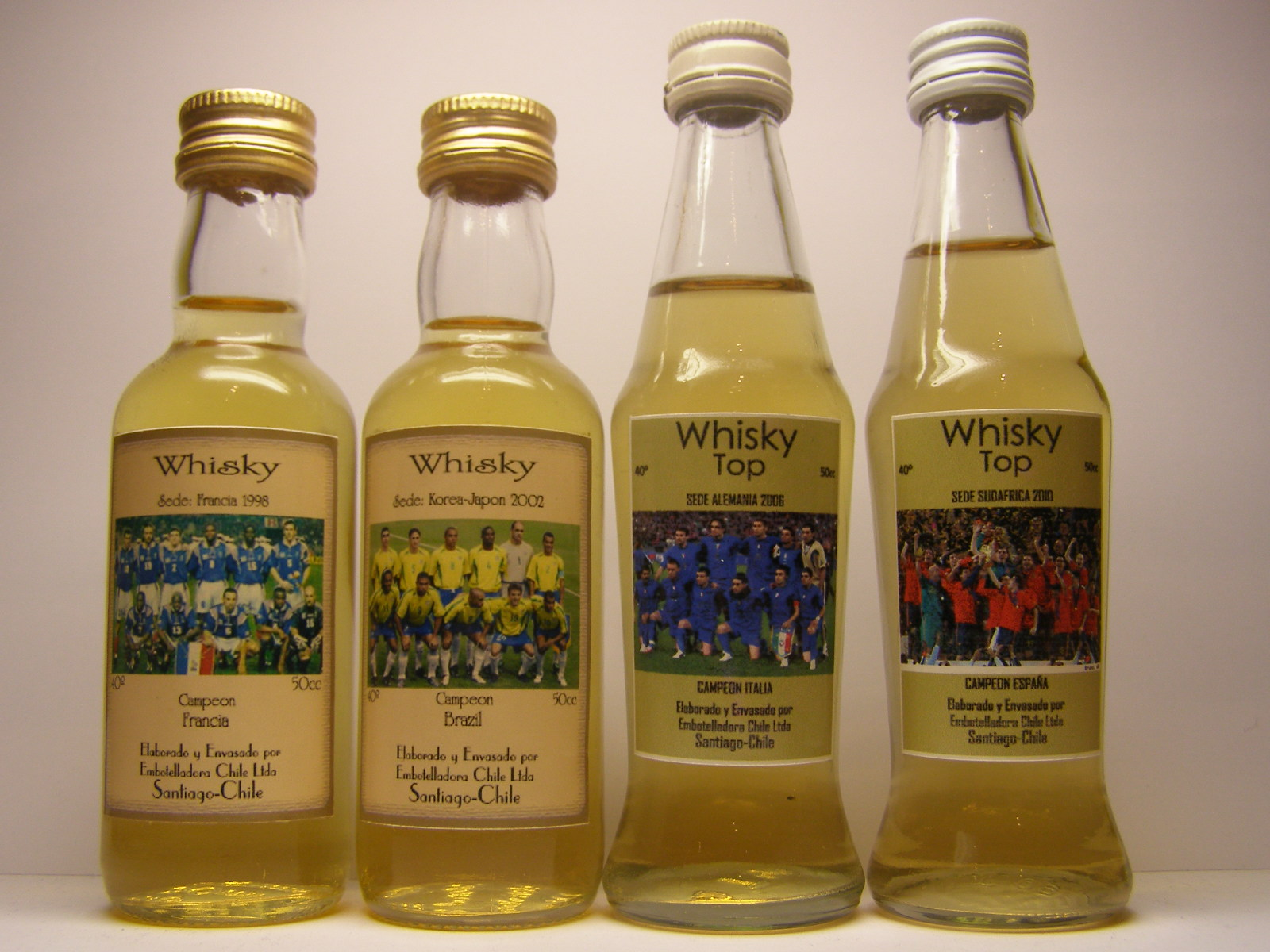 Campeon 1998 , 2002 , 2006 , 2010 Whisky