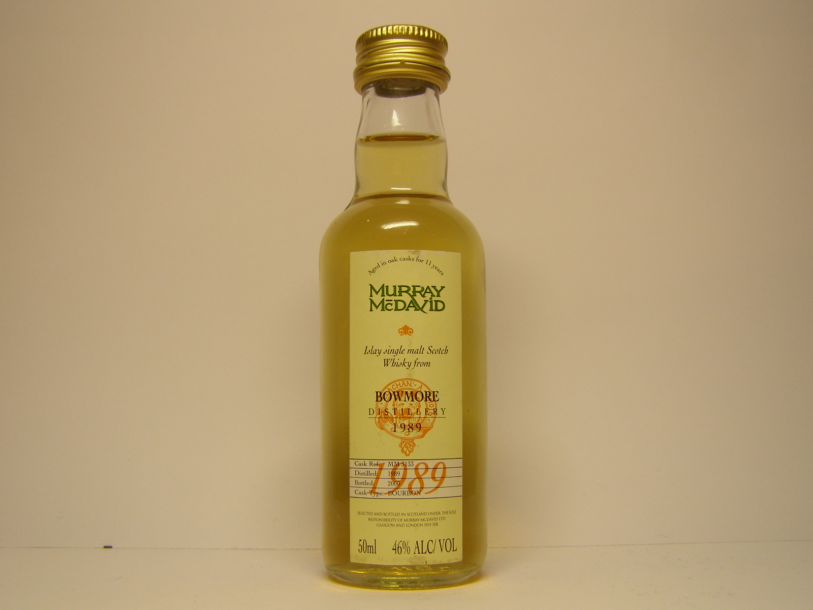 "ISMSW 11yo 1989-2000 ""Murray McDavid"" 50ml 46%ALC/VOL"