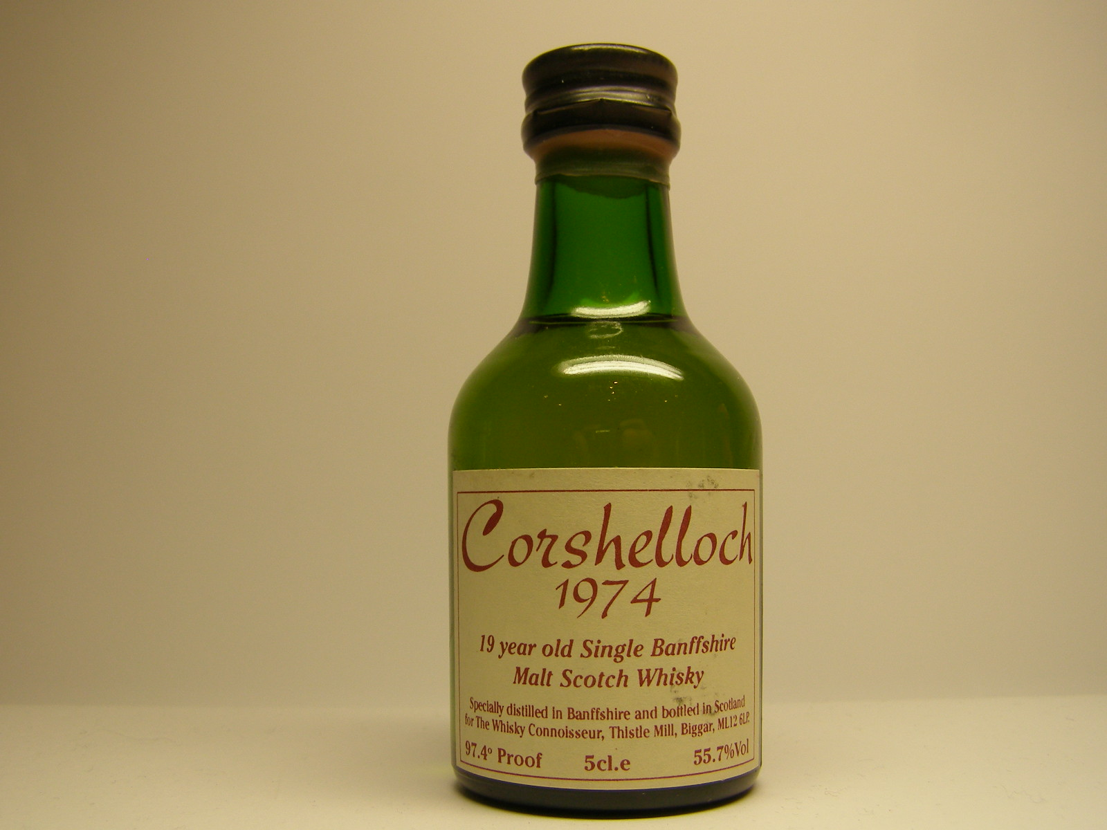 CORSHELLOCH Old SBMSW 19yo 1974 5cl.e 55,7%Vol 97,4´Proof