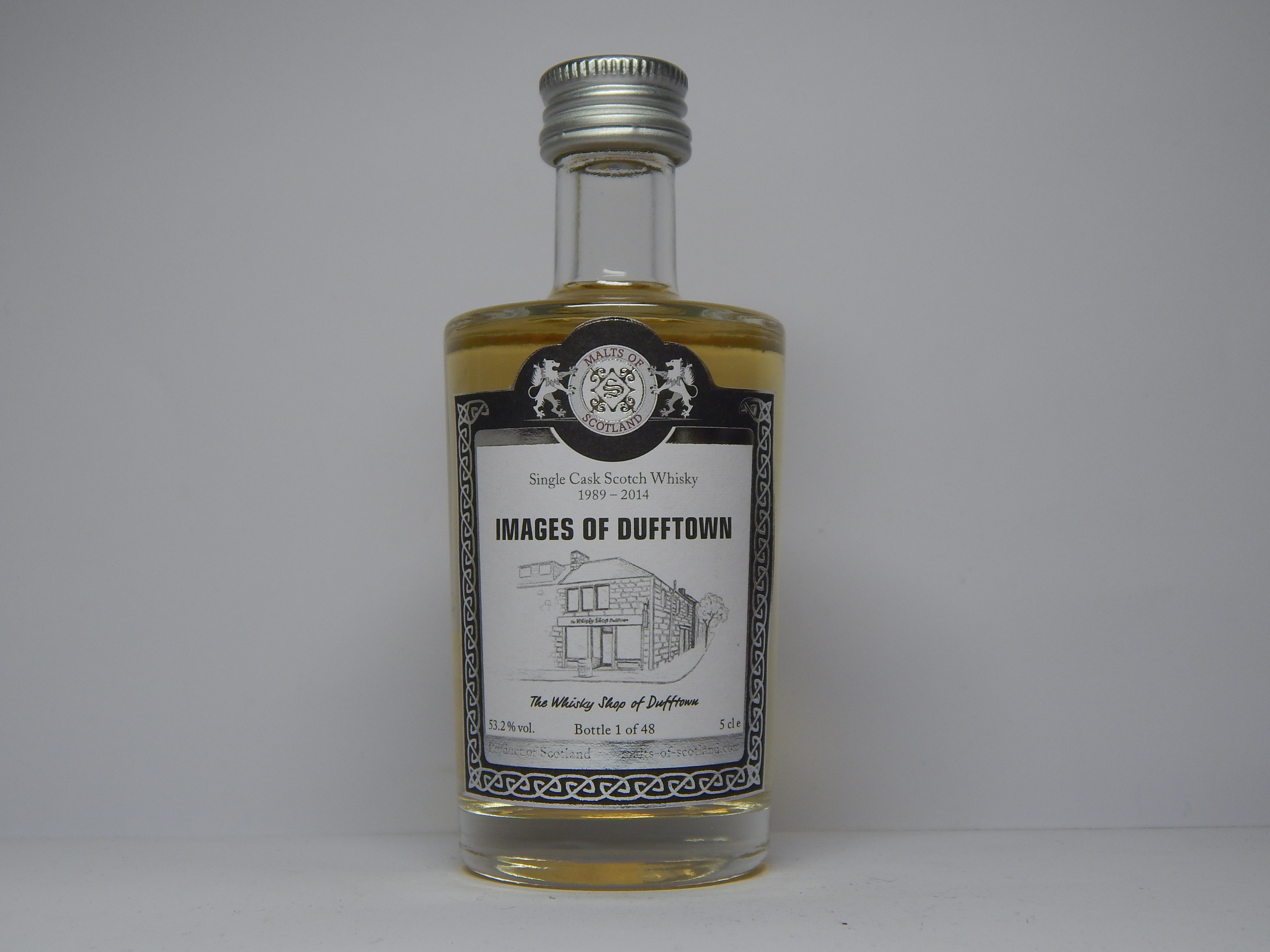 "IMAGES OF DUFFTOWN SMSW 25yo 1989-2014 ""Malts of Scotland"" 5cle 53,2%vol."