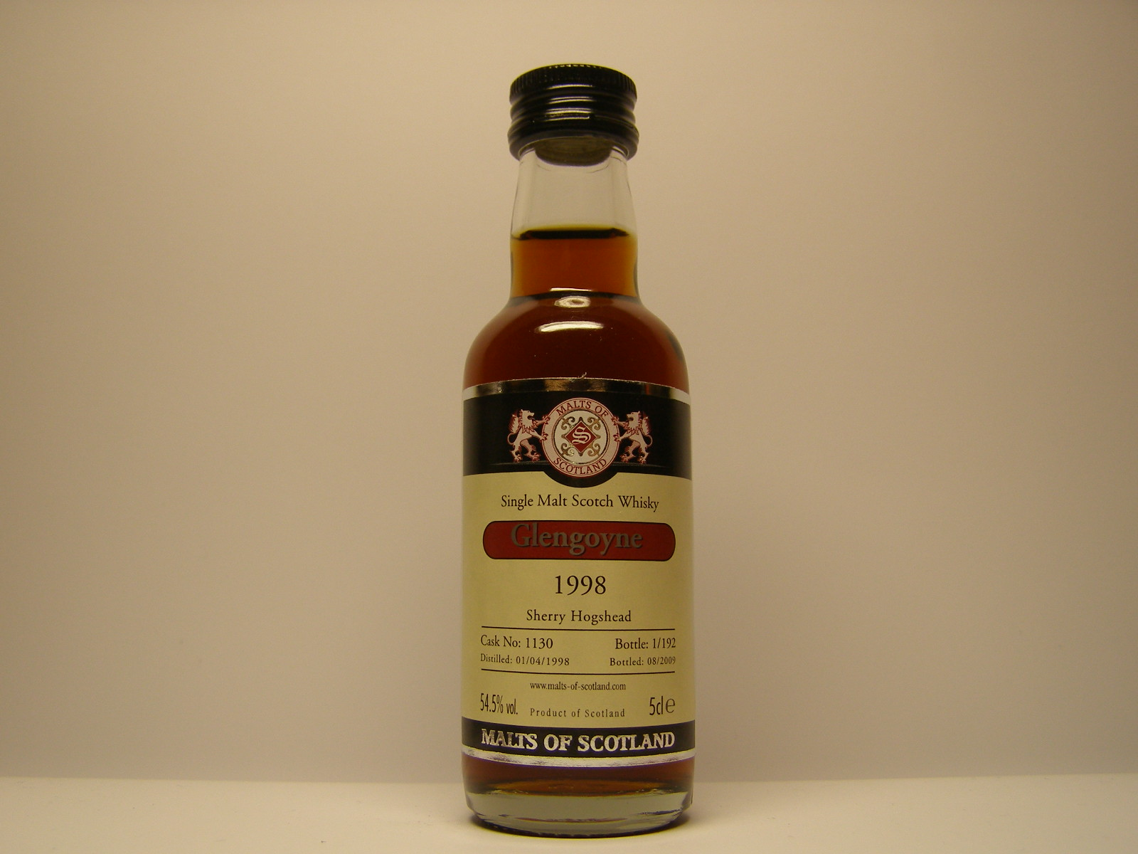 "SMSW 1998 -2009 ""Malt of Scotland"" 5cle 54,5%vol."