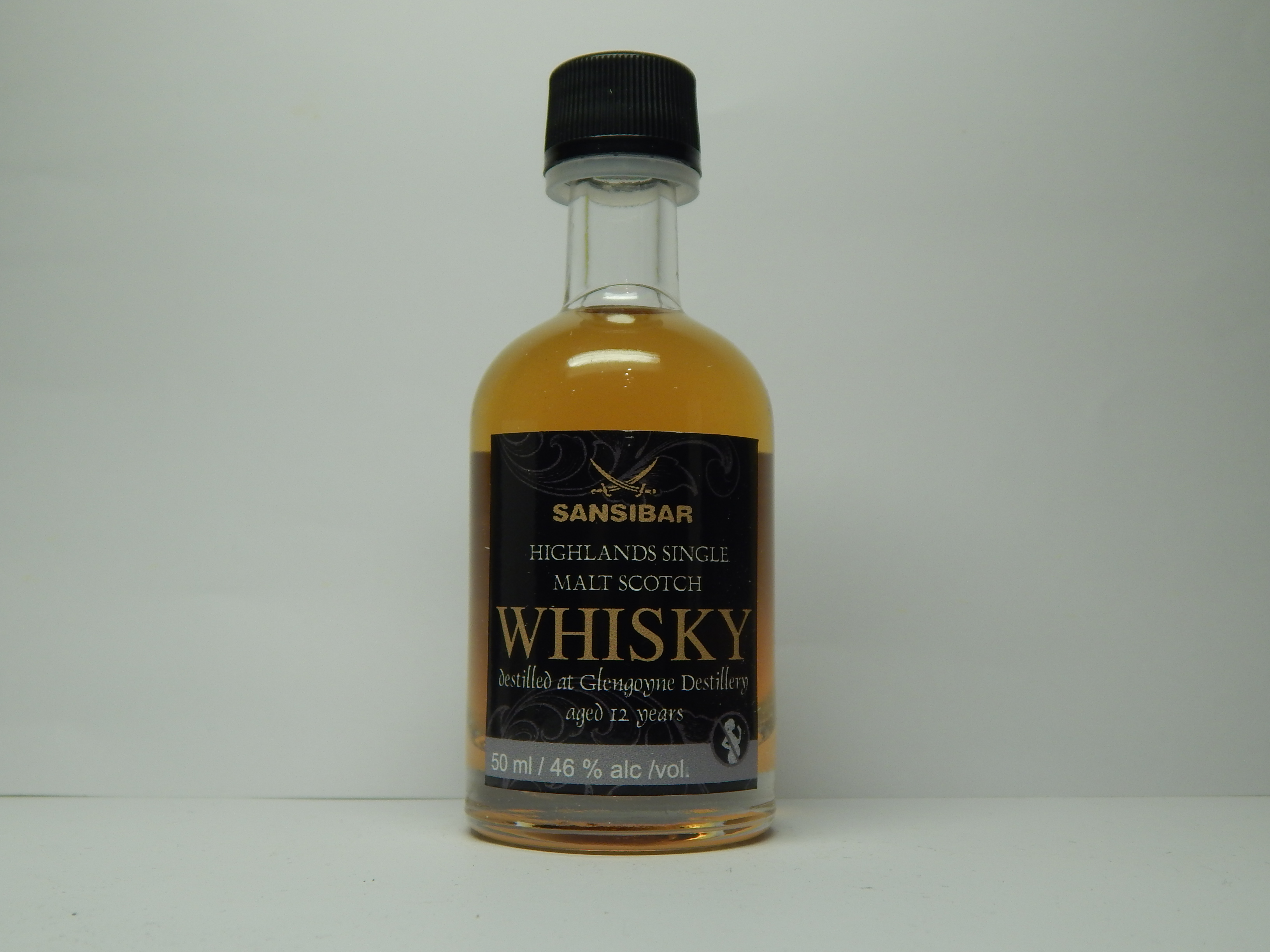 "HSMW 12yo ""Sansibar Whisky"" 50ml 46%alc/vol."