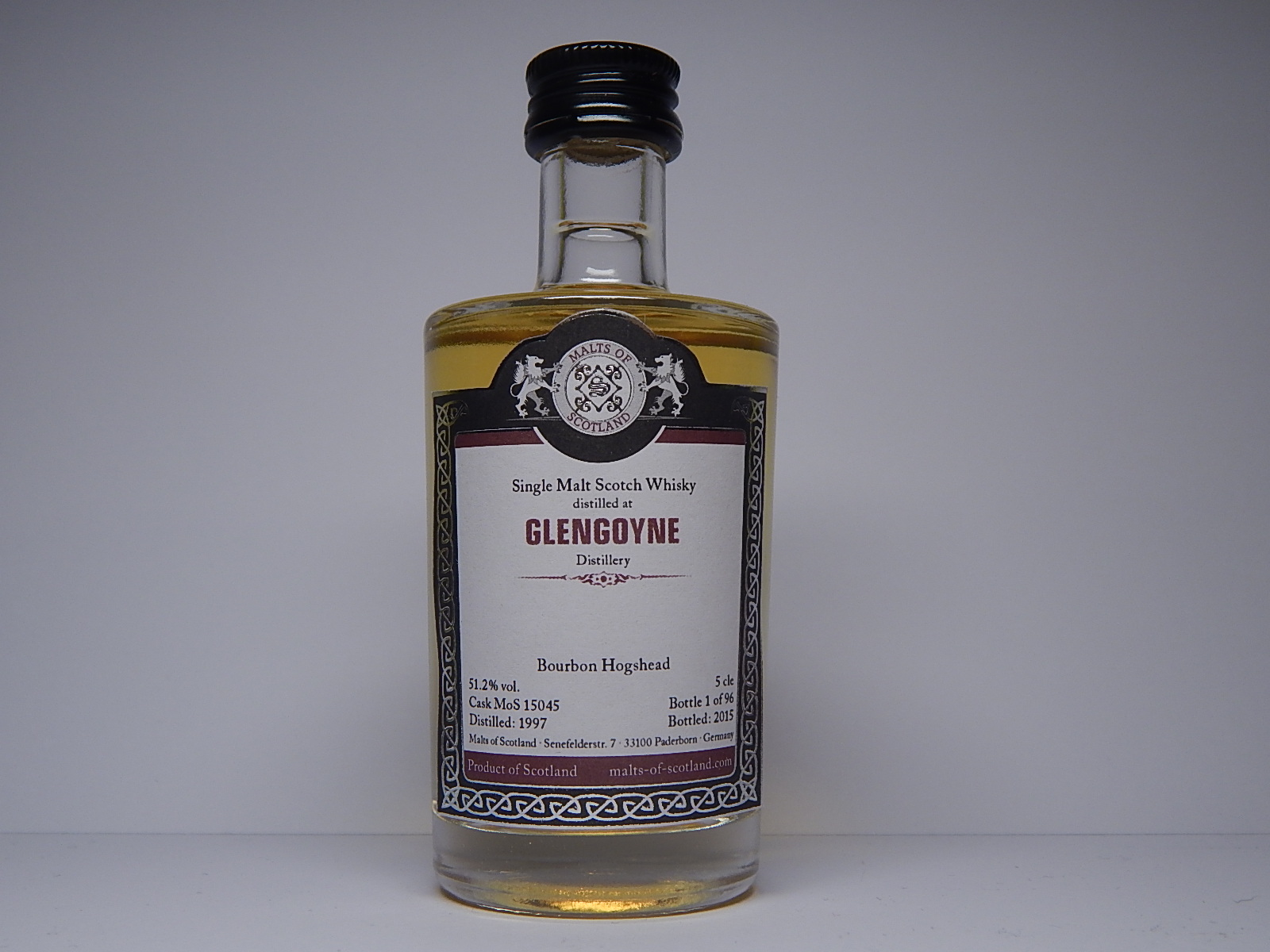"SMSW Bourbon Hogshead 18yo 1997-2015 ""Malts of Scotland"" 5cle 51,2%vol."
