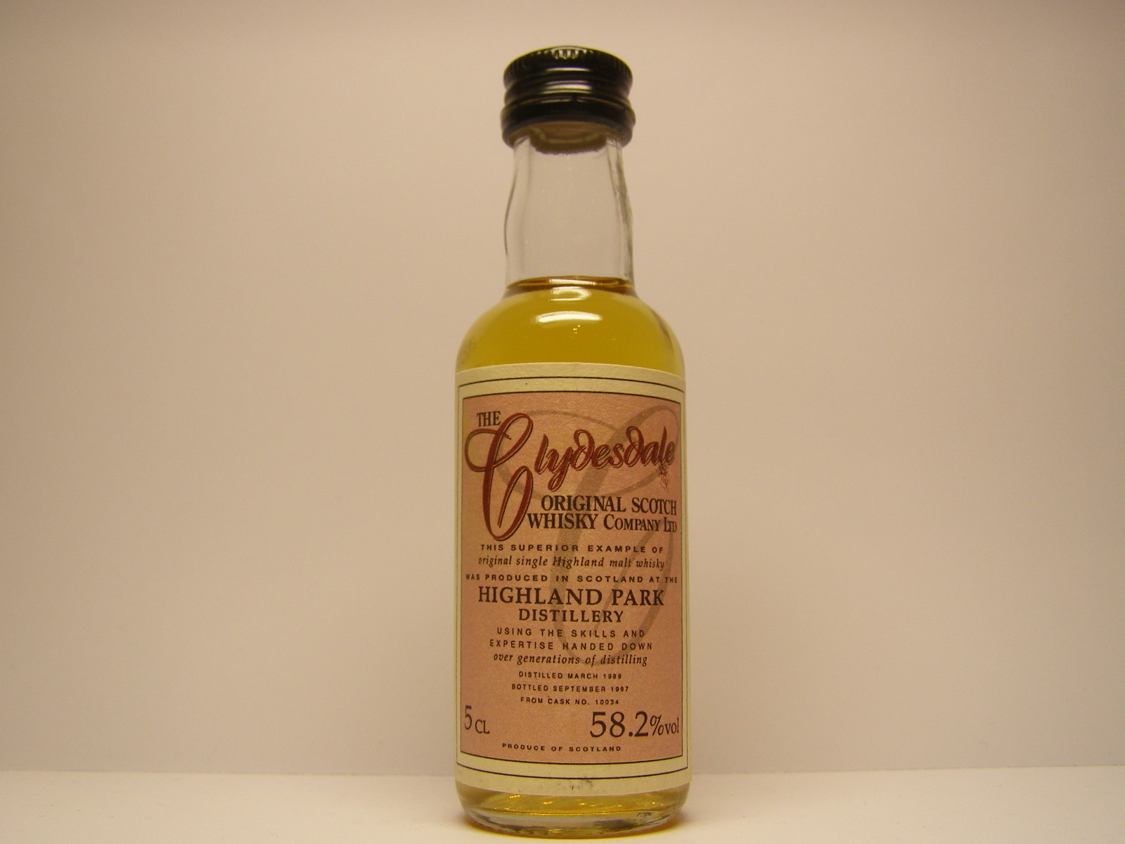 "SHMW 1989-1997 ""Clydesdale"" 5CL 58,2%vol"