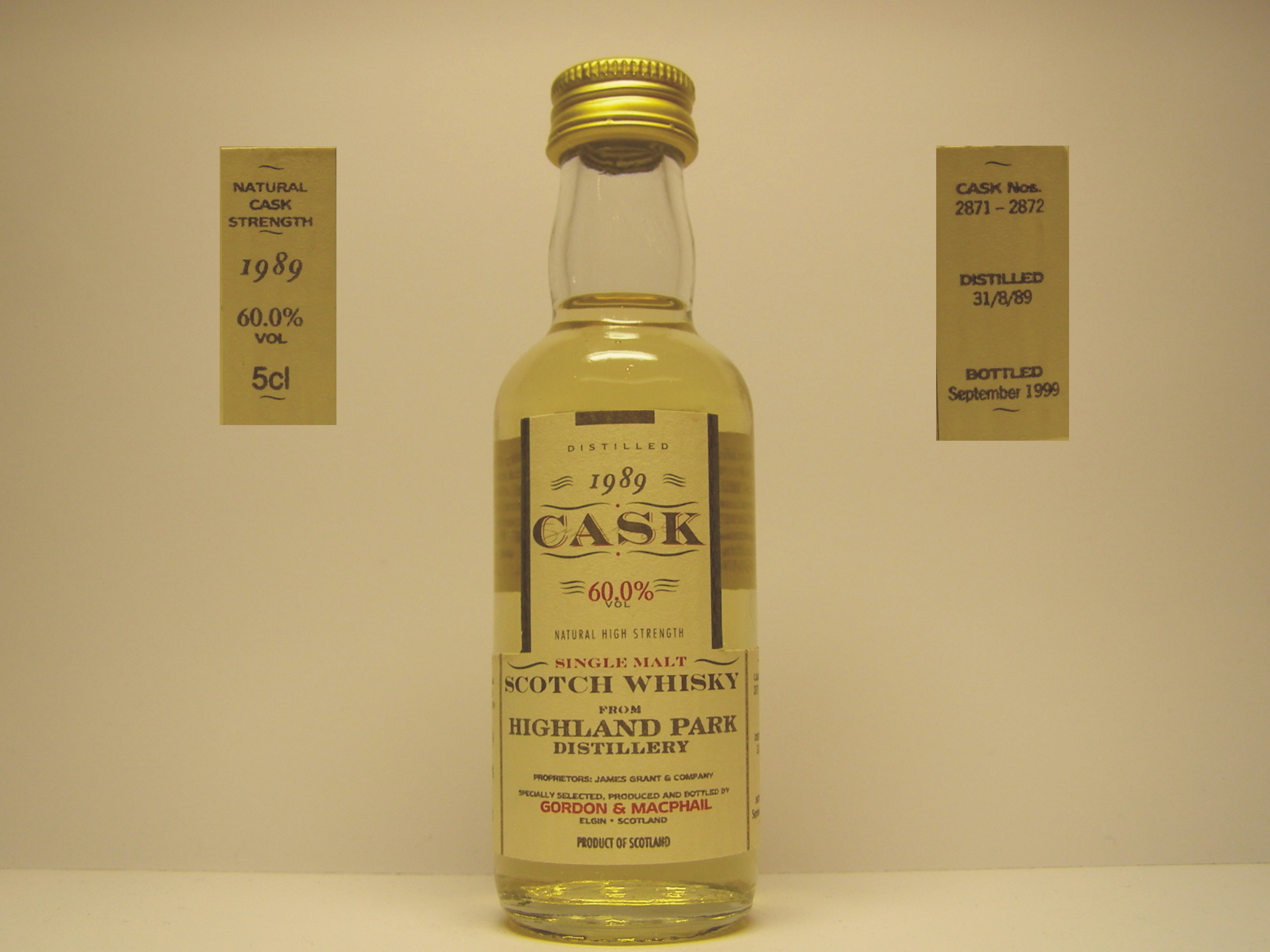 "SMSW 1989-1999 ""G&M Cask"" 5cl 607%VOL"