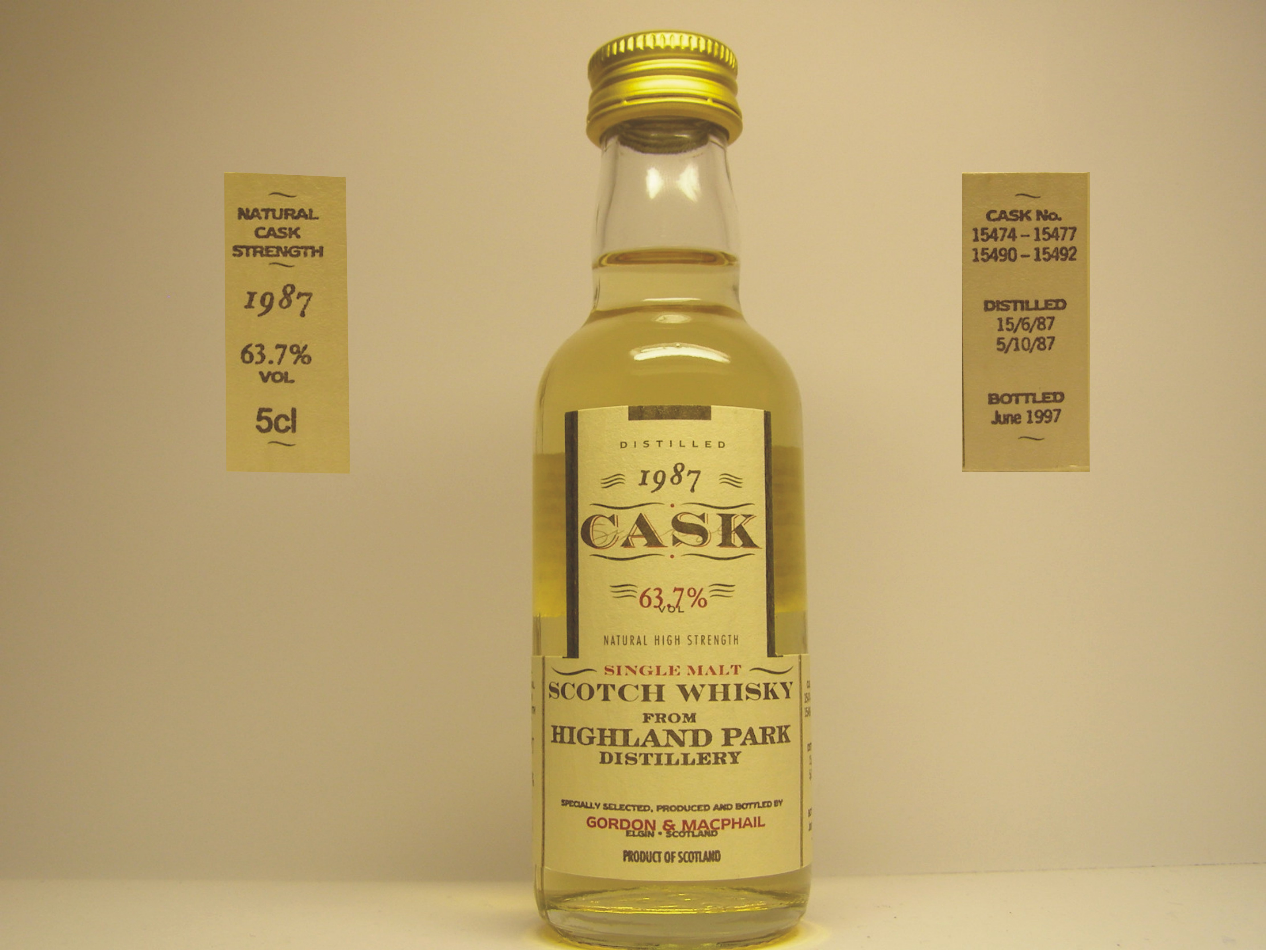 "SMSW 10yo 1987-1997 ""G&M Cask"" 5cl 63,7%VOL"