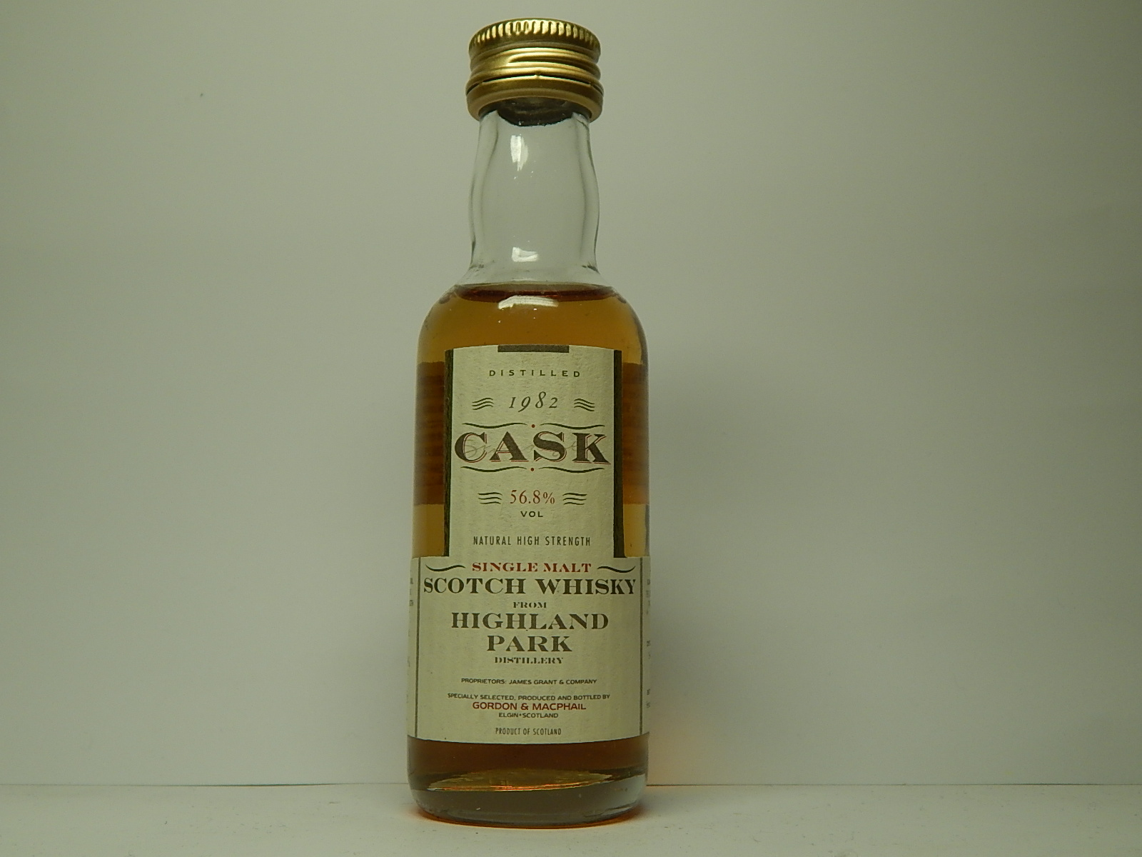 "SMSW 12yo 1982-1995 ""G&M Cask"" 5cl 56,8%VOL"