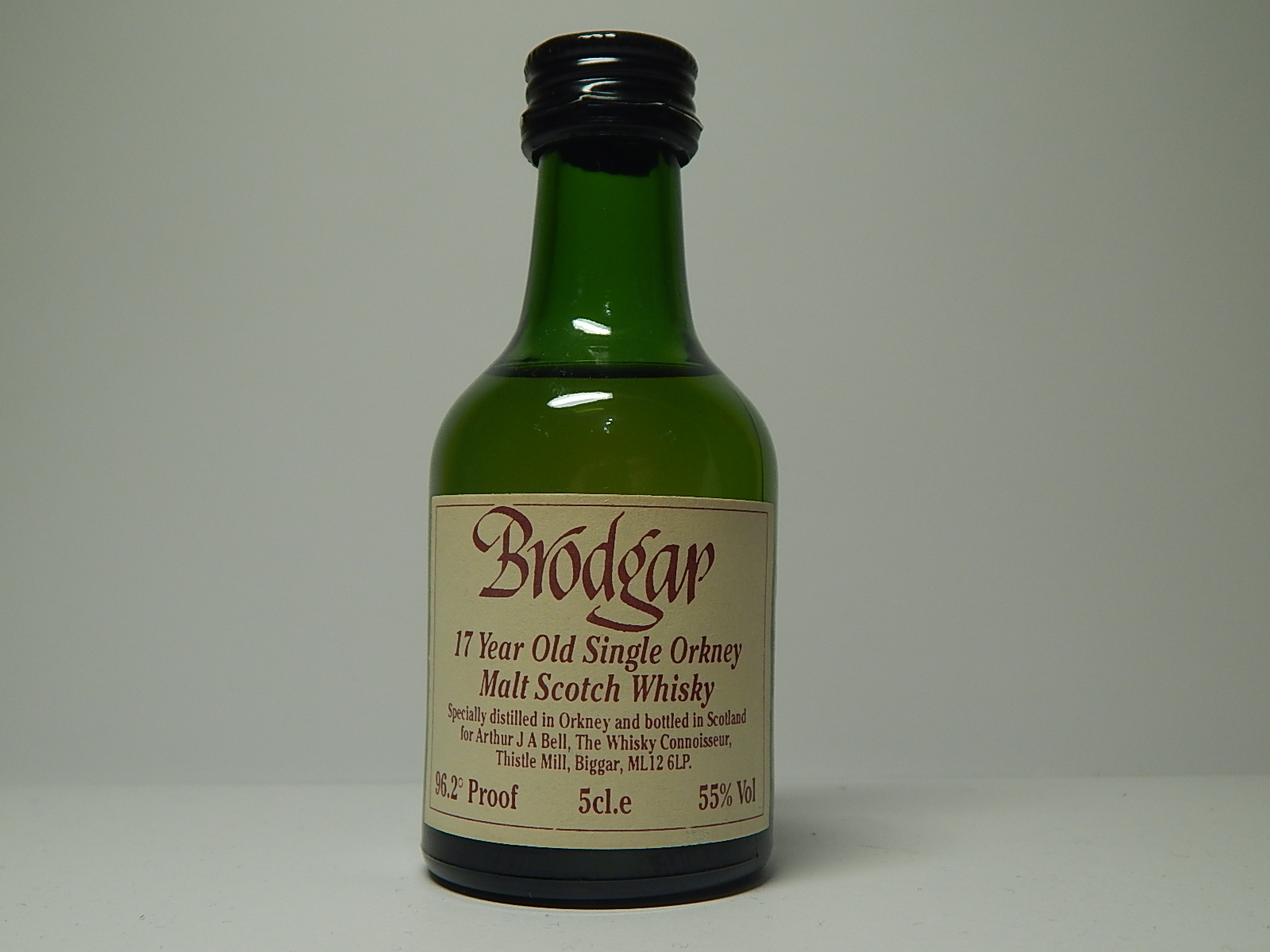 "BRODGAR OSOMSW 17yo ""Whisky Connoisseur"" 5cl.e 55%Vol 96,2´Proof"