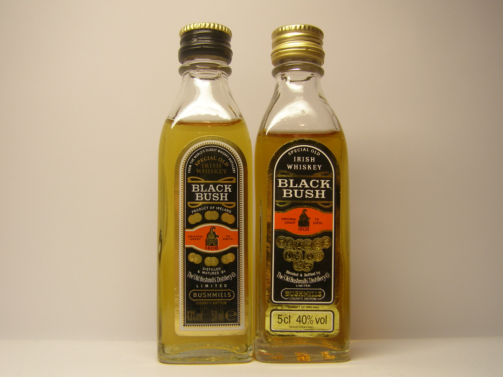 BUSHMILLS BLACK BUSH IW