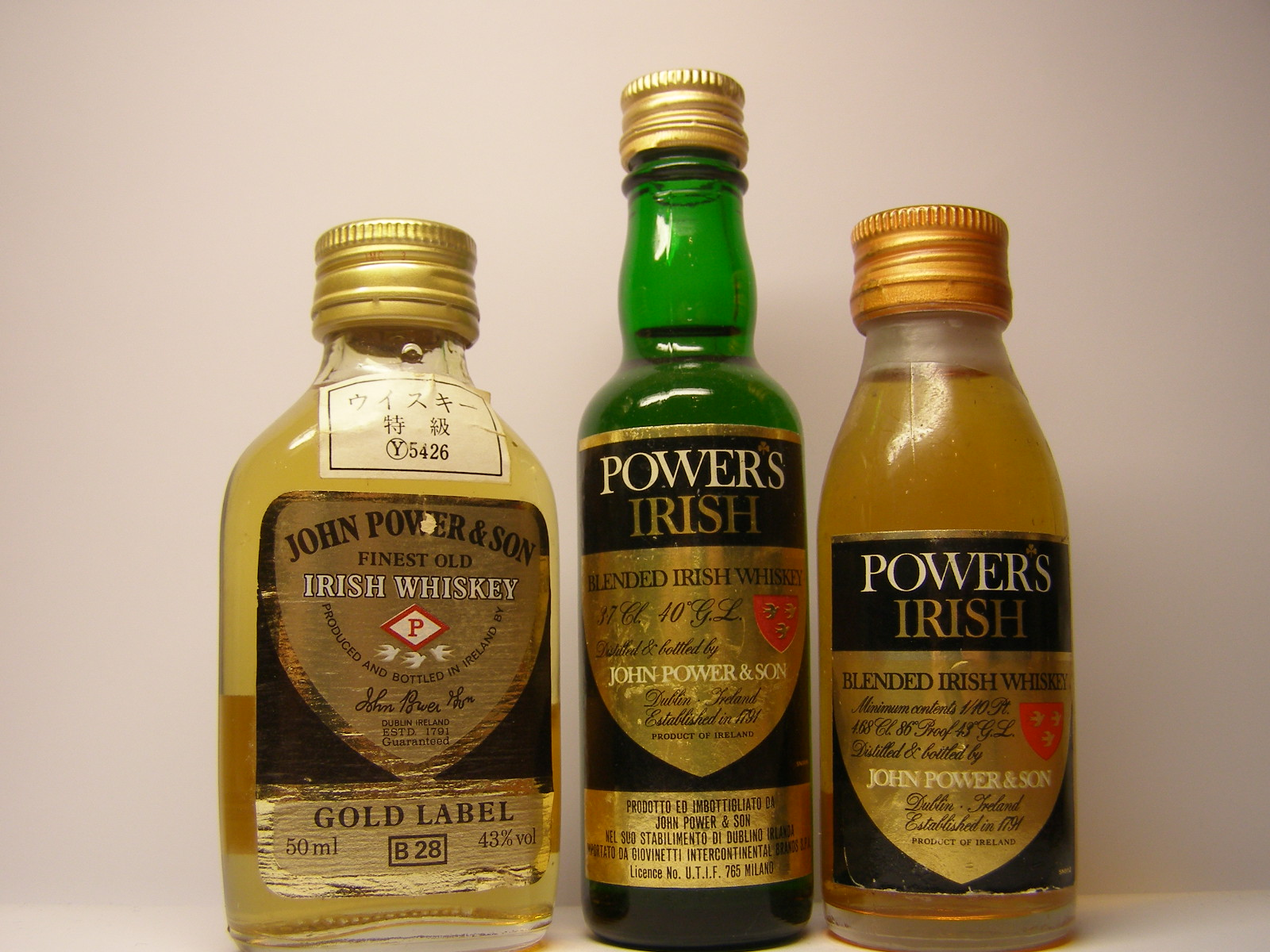 JOHN POWER & SON GOLD LABEL FOIW  , POWER´S IRISH BIW