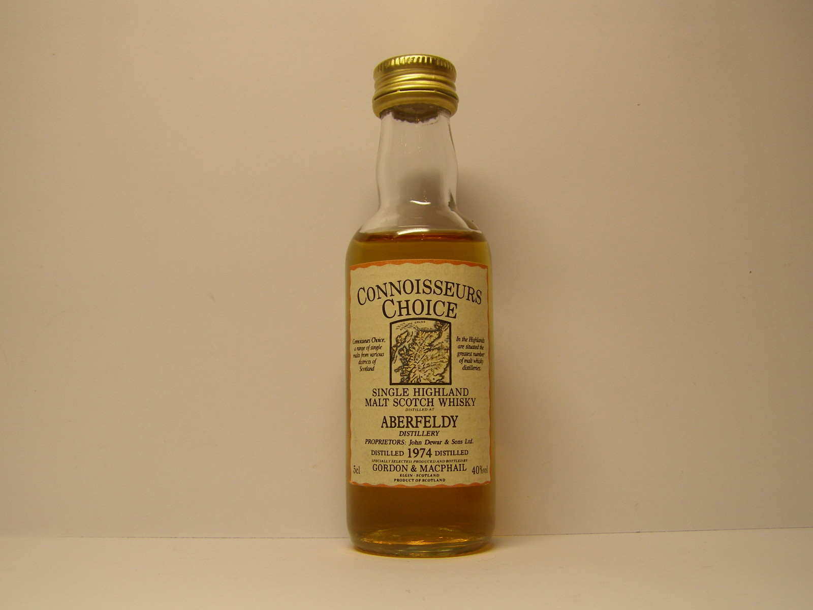 "SHMSW 1974 ""Connoisseurs Choice"" 5cl 40%vol"