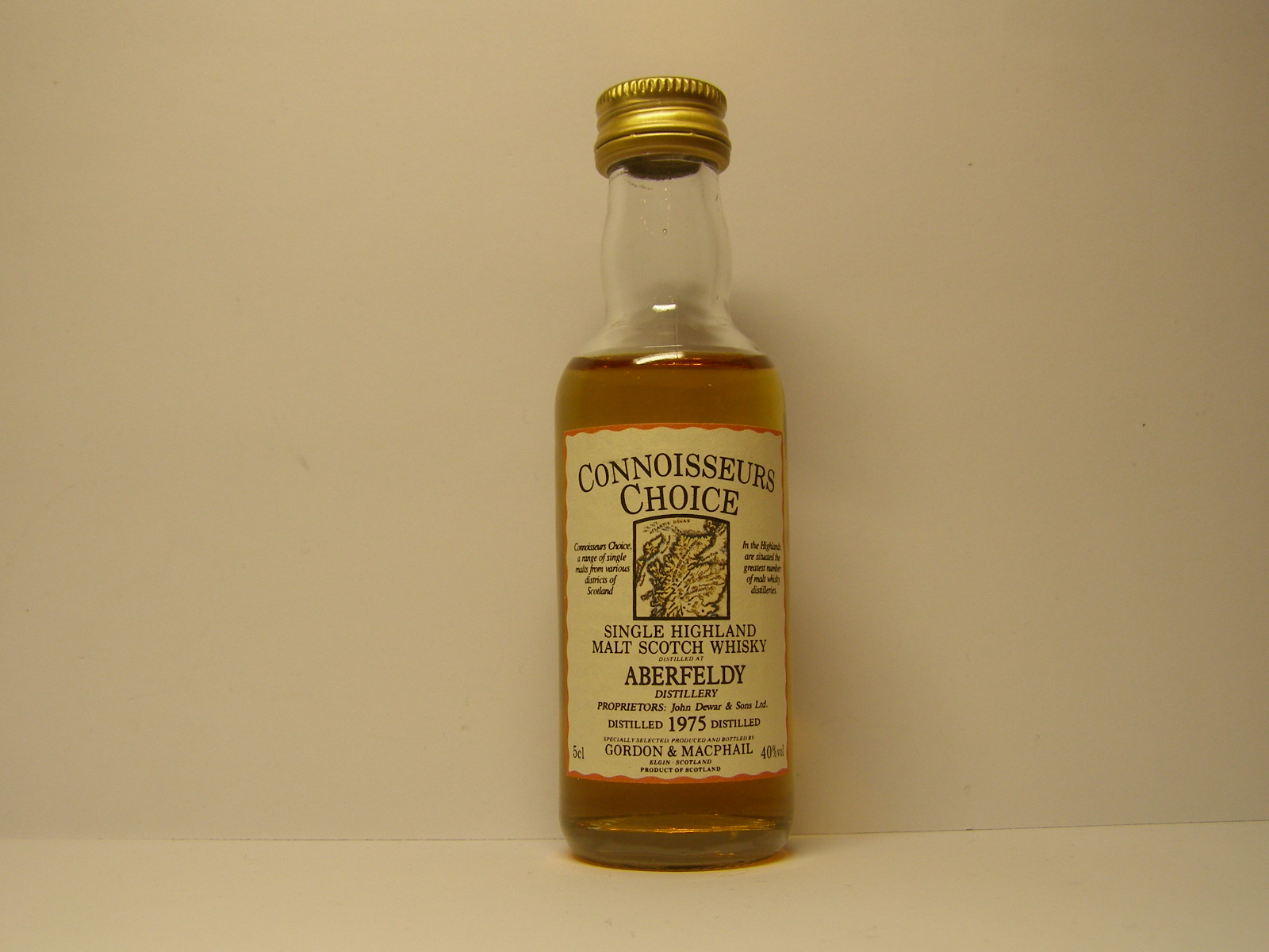 "SHMSW 1975 ""Connoisseurs Choice"" 5cl 40%vol"